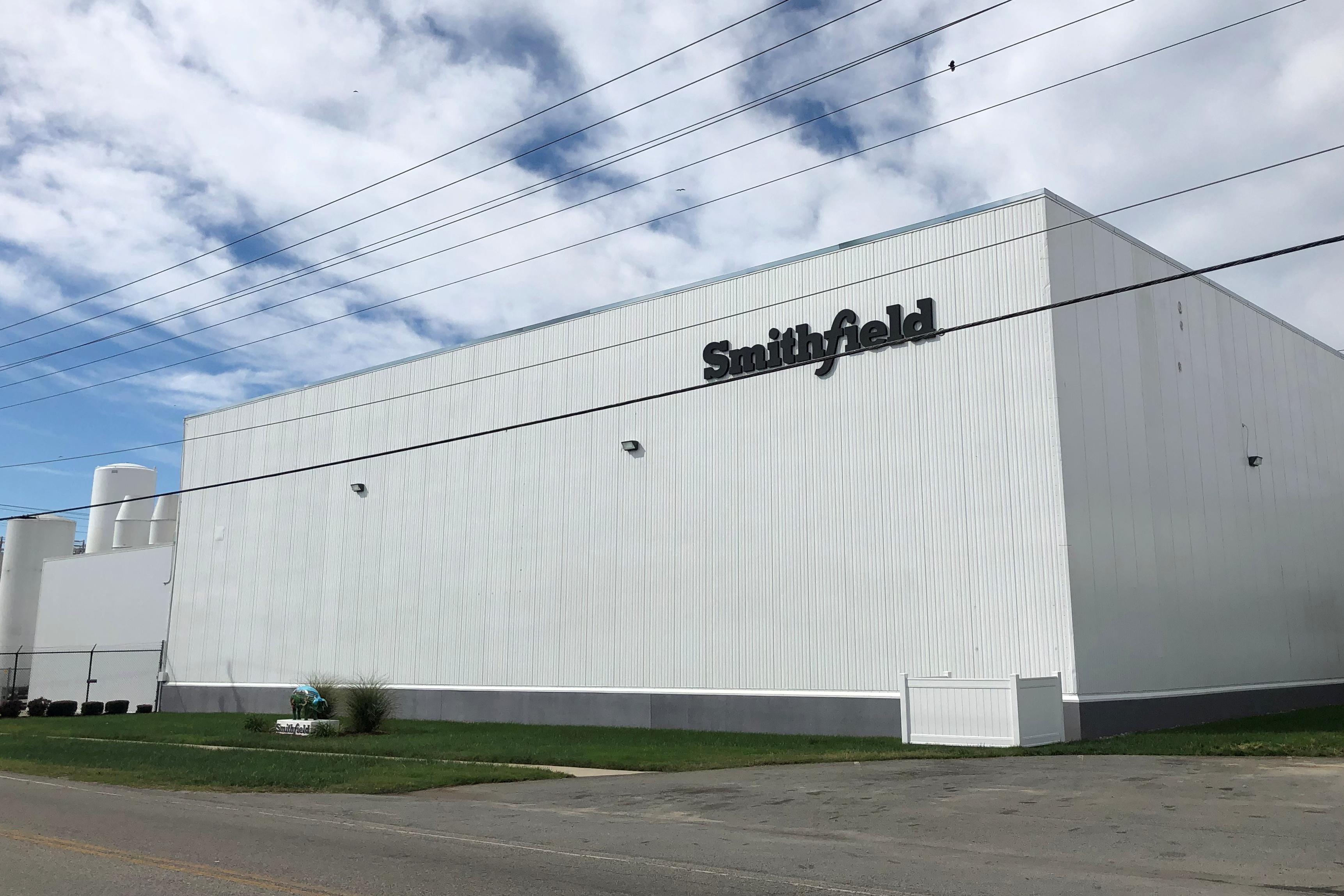 Smithfield Foods' hog slaughterhouse is seen in Smithfield, Virginia, U.S. October 17, 2019. REUTERS/Tom Polansek