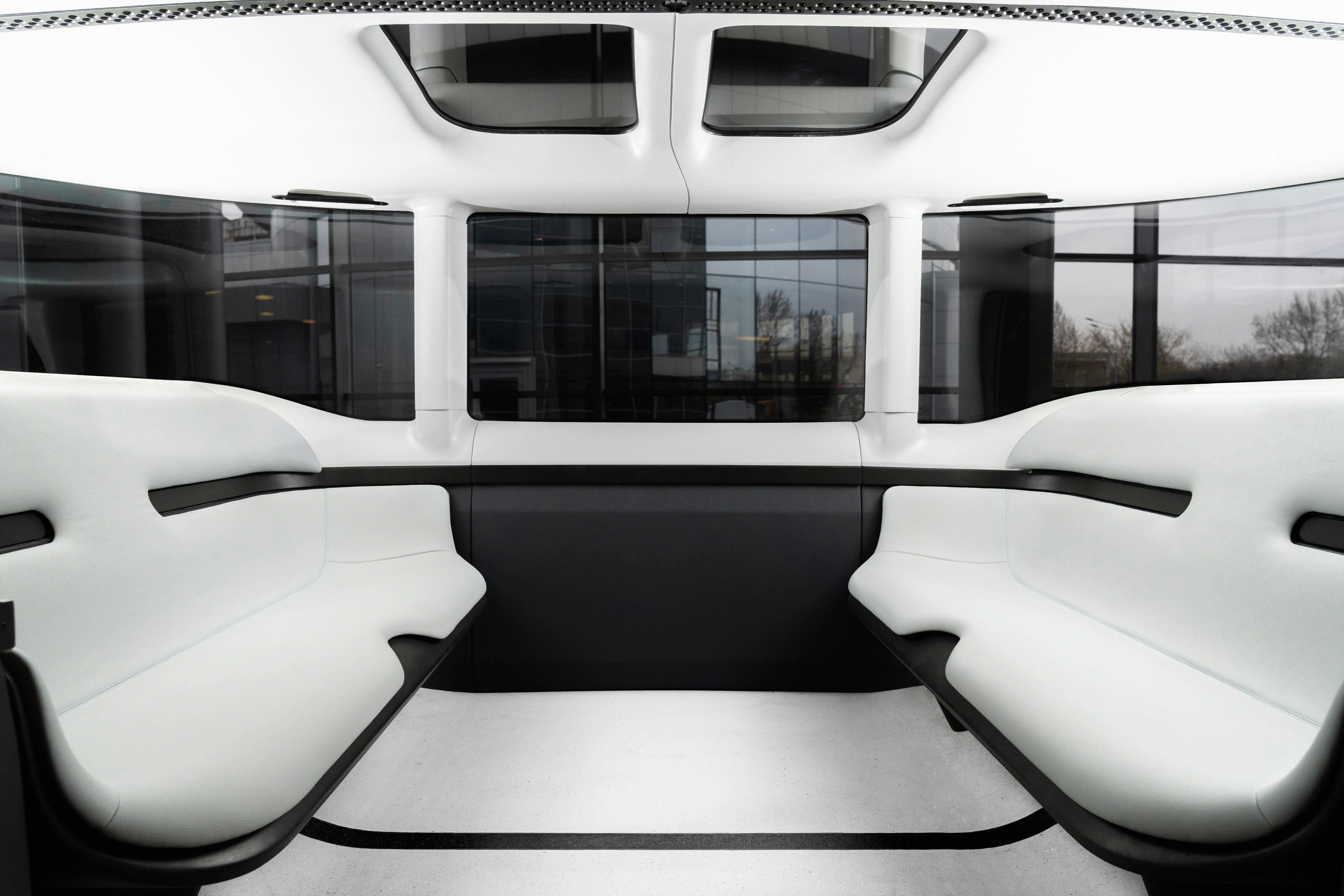 The inerior of FLIP, a fully self-driving vehicle developed by Sberbank, is seen in this handout image released on May 27, 2021. Courtesy of Sberbank/Handout via REUTERS