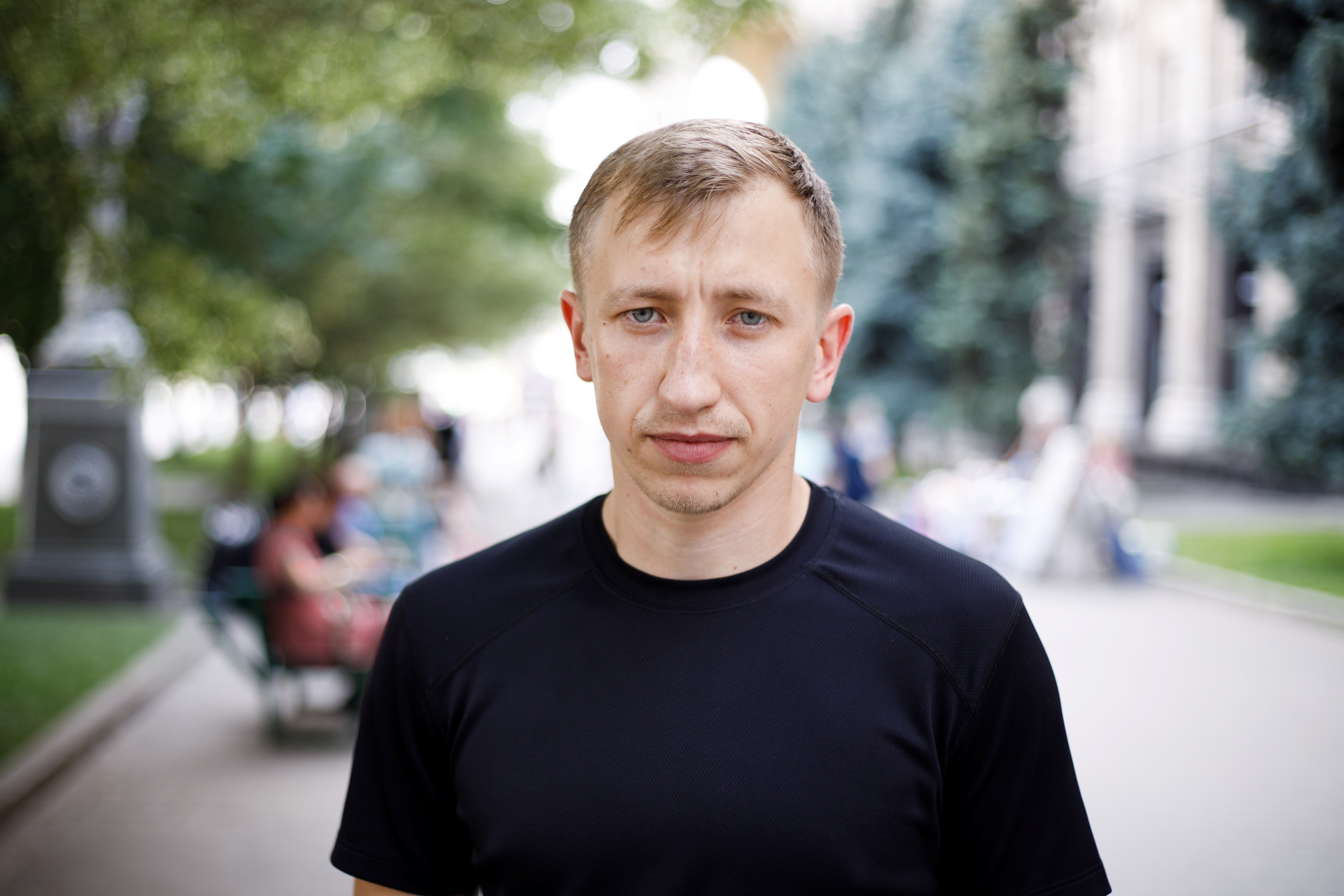 Vitaly Shishov, head of a Kyiv-based organisation that helps Belarusians fleeing persecution, is seen in Kyiv, Ukraine July 18, 2021. Picture taken July 18, 2021.  RBC-Ukraine/Handout via REUTERS ATTENTION EDITORS - THIS IMAGE WAS PROVIDED BY A THIRD PARTY.