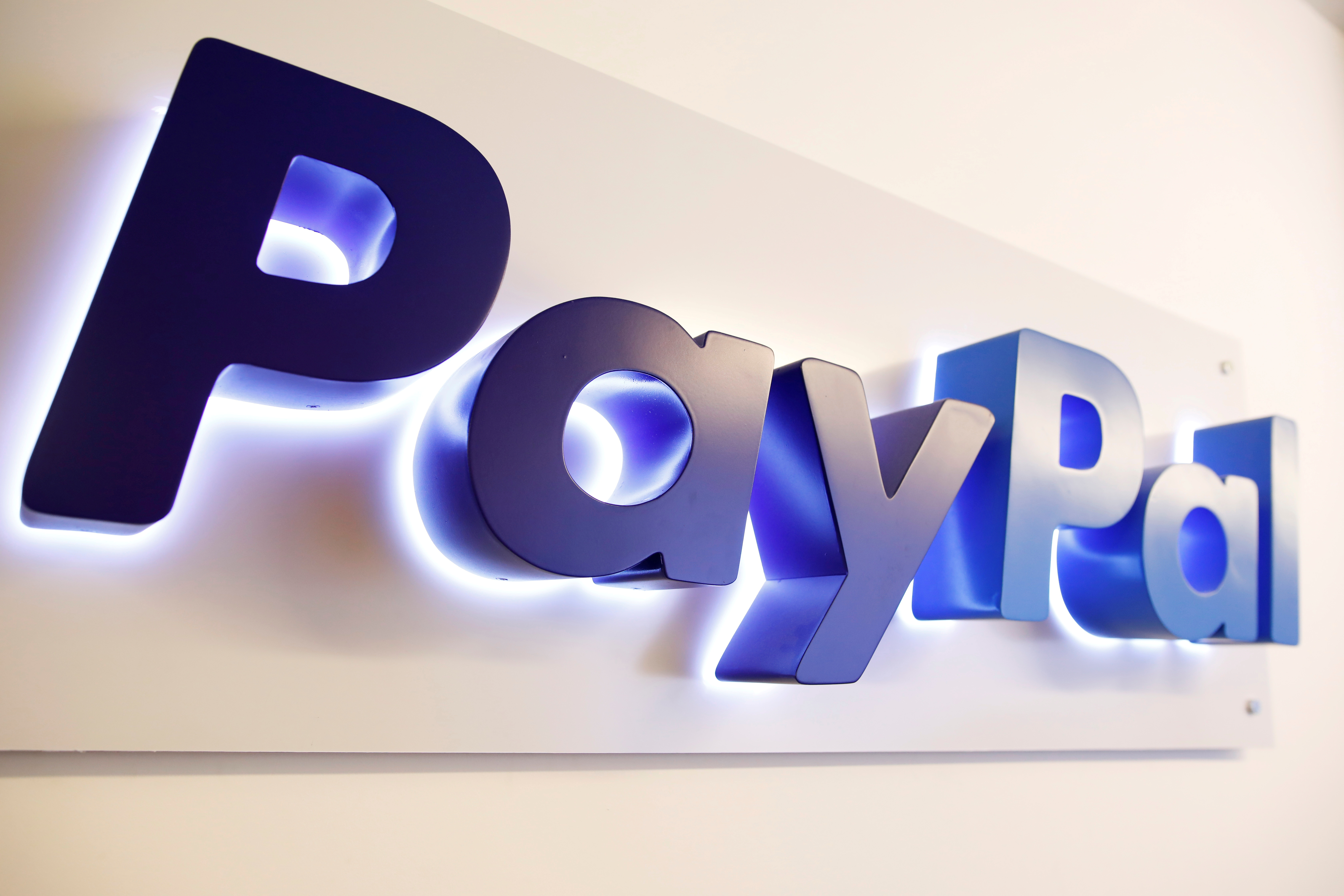 The PayPal logo is seen at a high-tech park in Beersheba, southern Israel August 28, 2017. Picture taken August 28, 2017. REUTERS/Amir Cohen