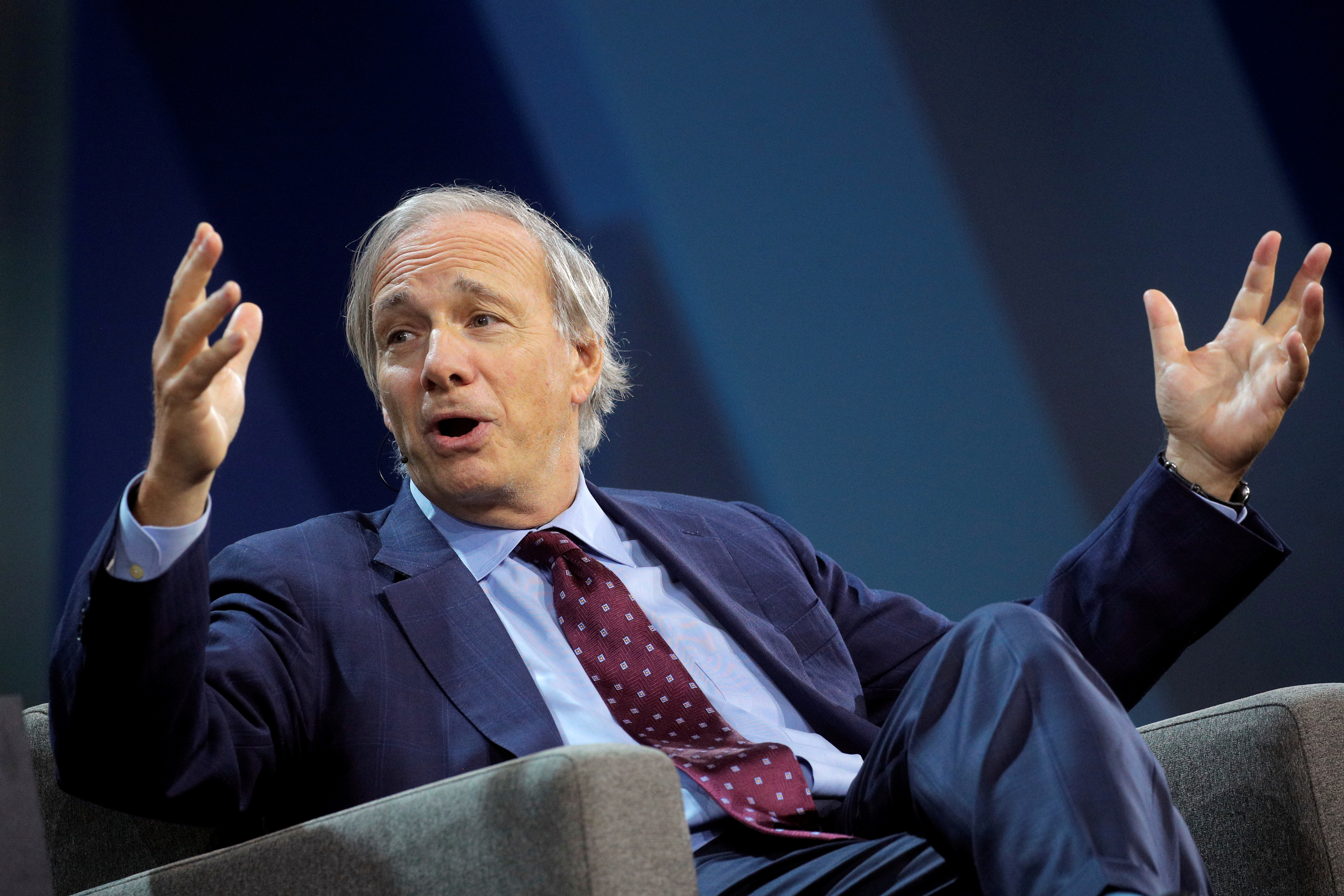 Ray Dalio, Bridgewater's co-chairman and co-chief investment officer, speaks during the Skybridge Capital SALT New York 2021 conference in New York City, U.S., September 15, 2021.  REUTERS/Brendan McDermid