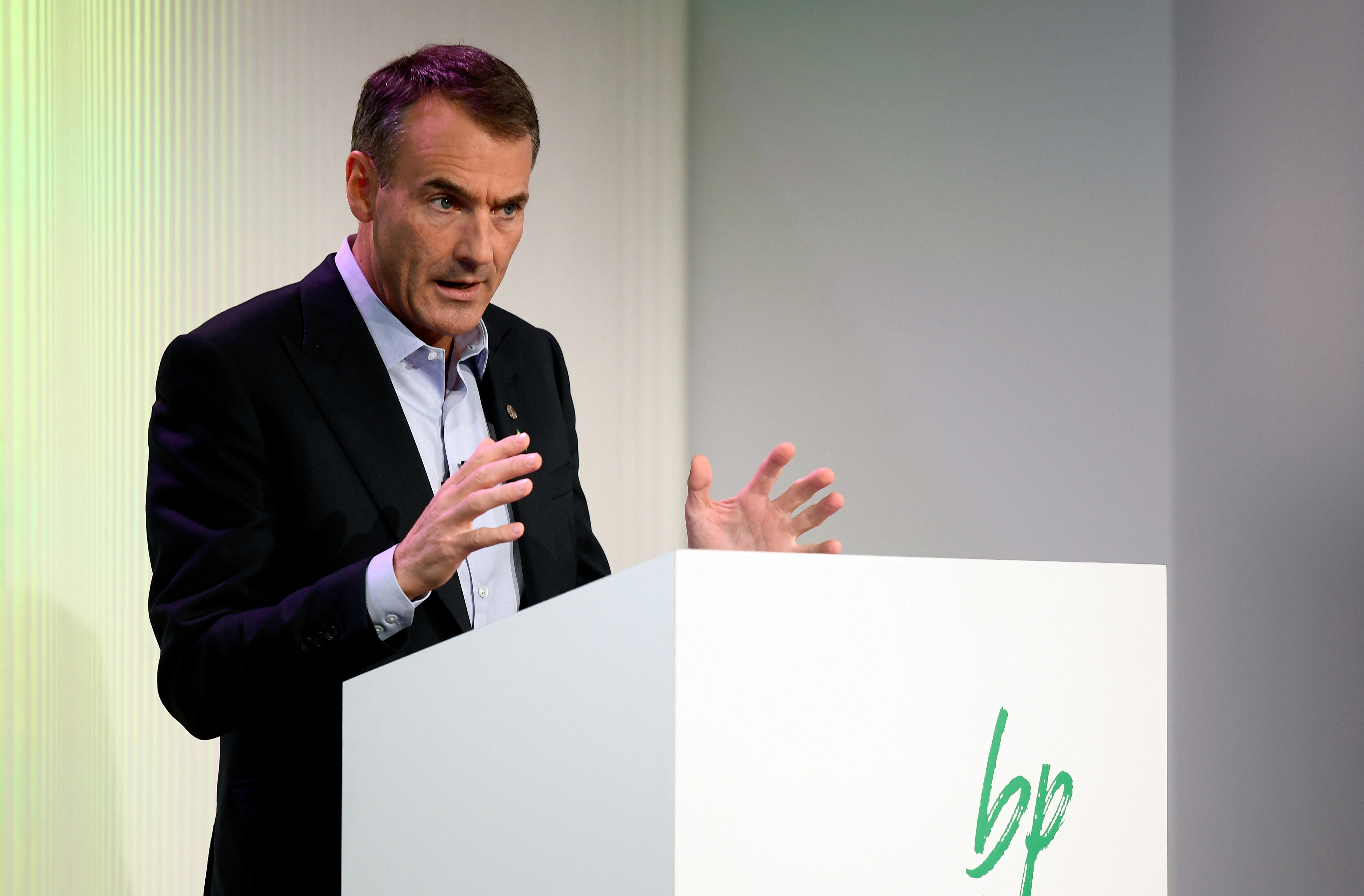 BP's  Chief Executive Bernard Looney gives a speech in central London, Britain February 12, 2020. REUTERS/Toby Melville