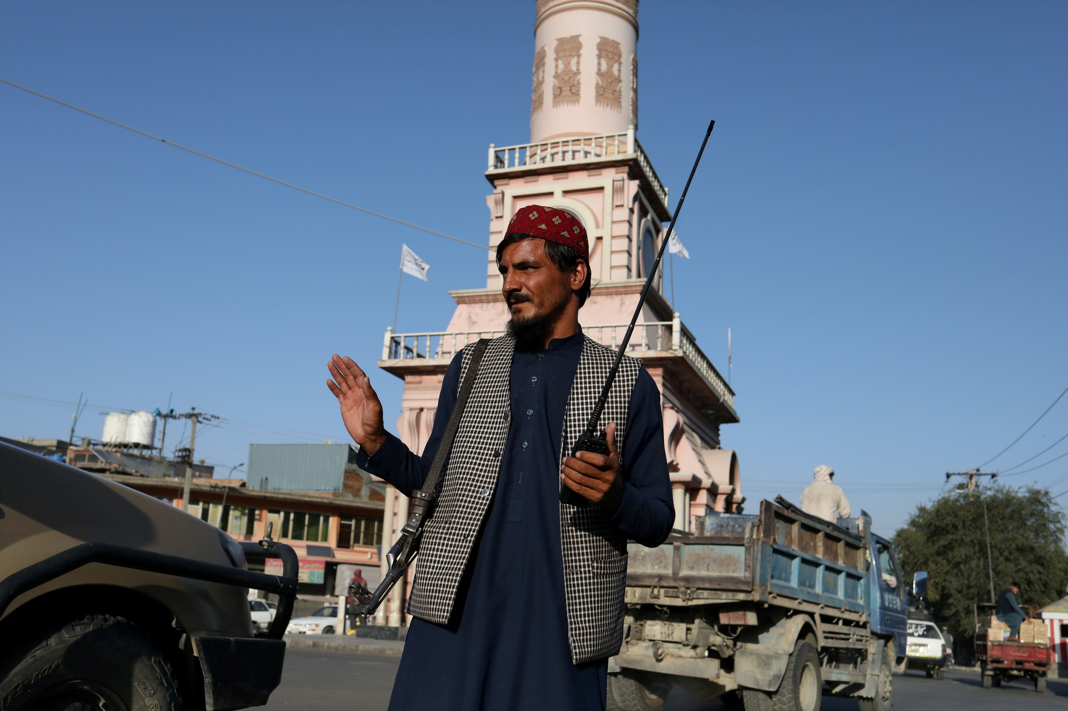 A Taliban soldier stands on a street in Kabul, Afghanistan September 1, 2021. WANA (West Asia News Agency) via REUTERS