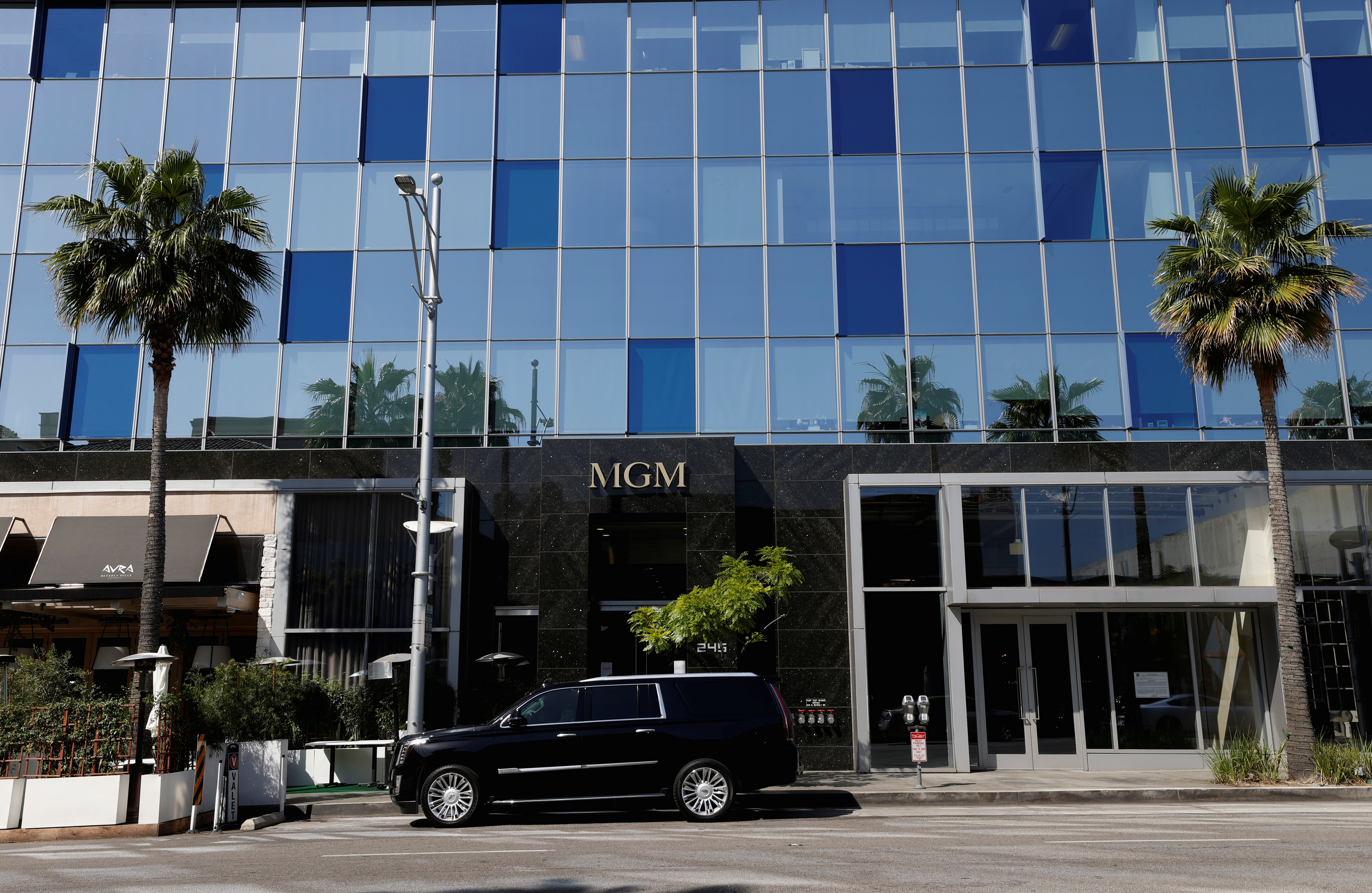 A general view shows the offices of MGM Studios in Beverly Hills, California, U.S., May 26, 2021. REUTERS/Mario Anzuoni