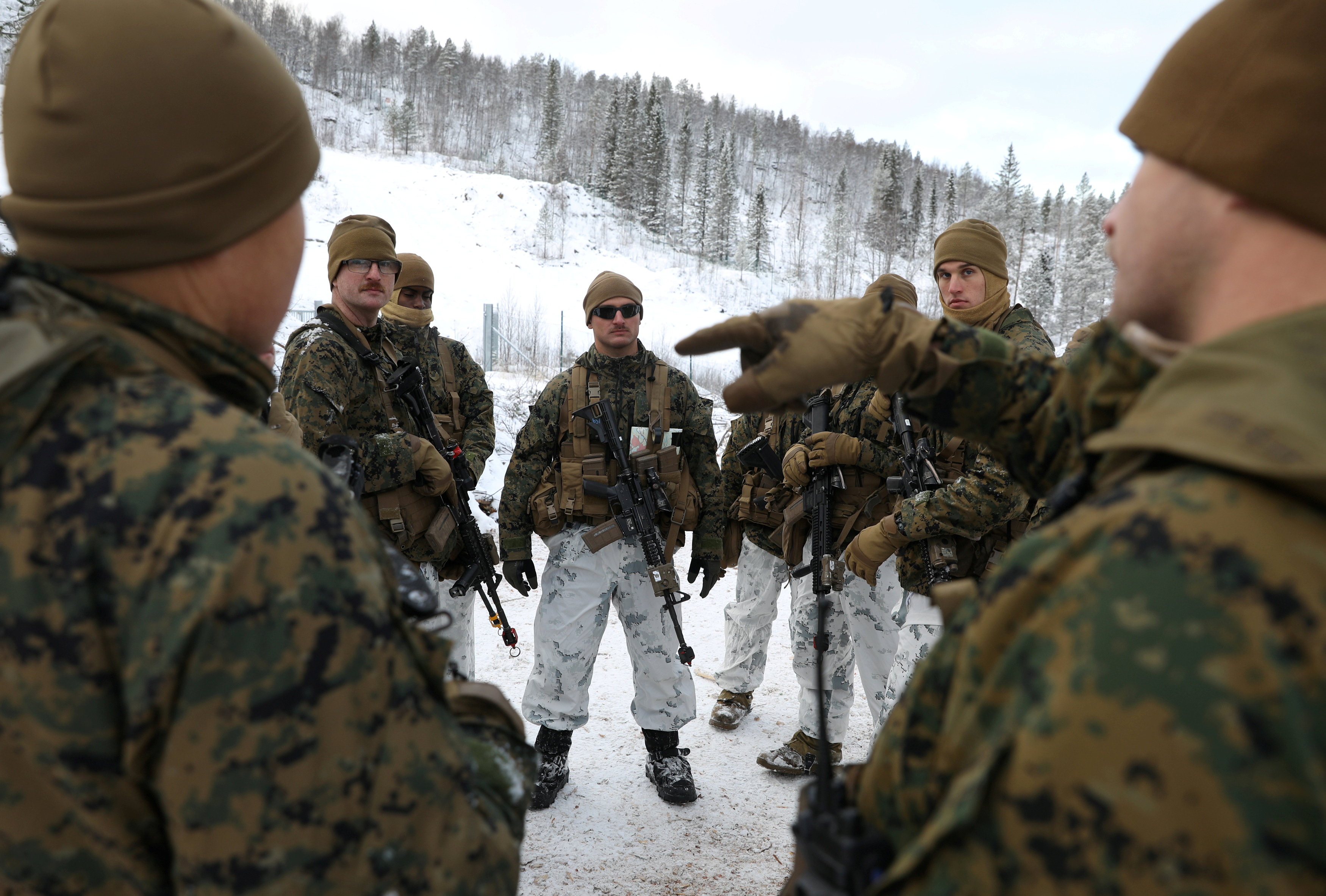 U.S. marines from Fox Company, 2nd Battalion, 6th Marine Regiment, part of Marine Rotational Force - Europe take part in