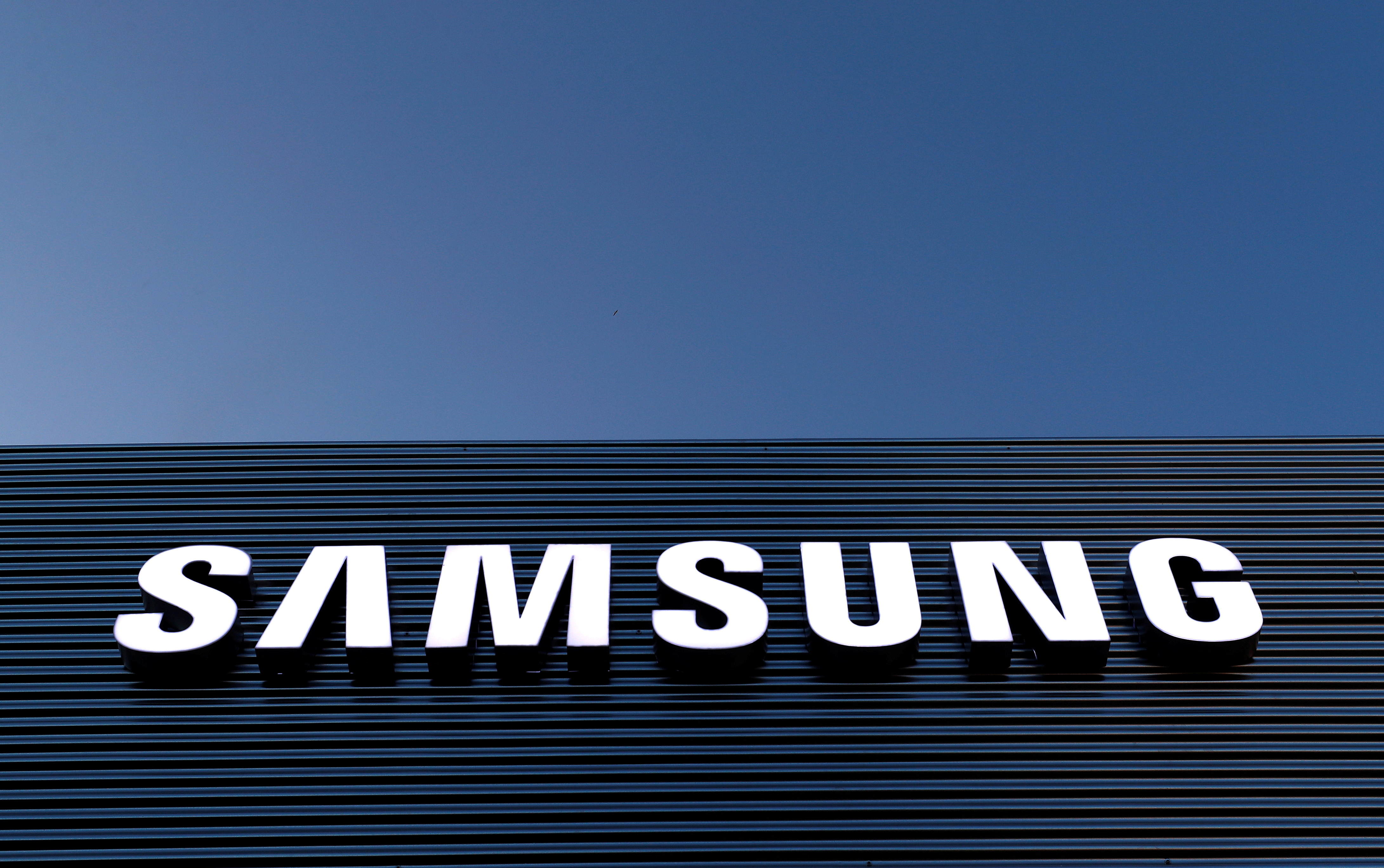 The logo of Samsung is seen on a building during the Mobile World Congress in Barcelona, Spain February 25, 2018. REUTERS/Yves Herman