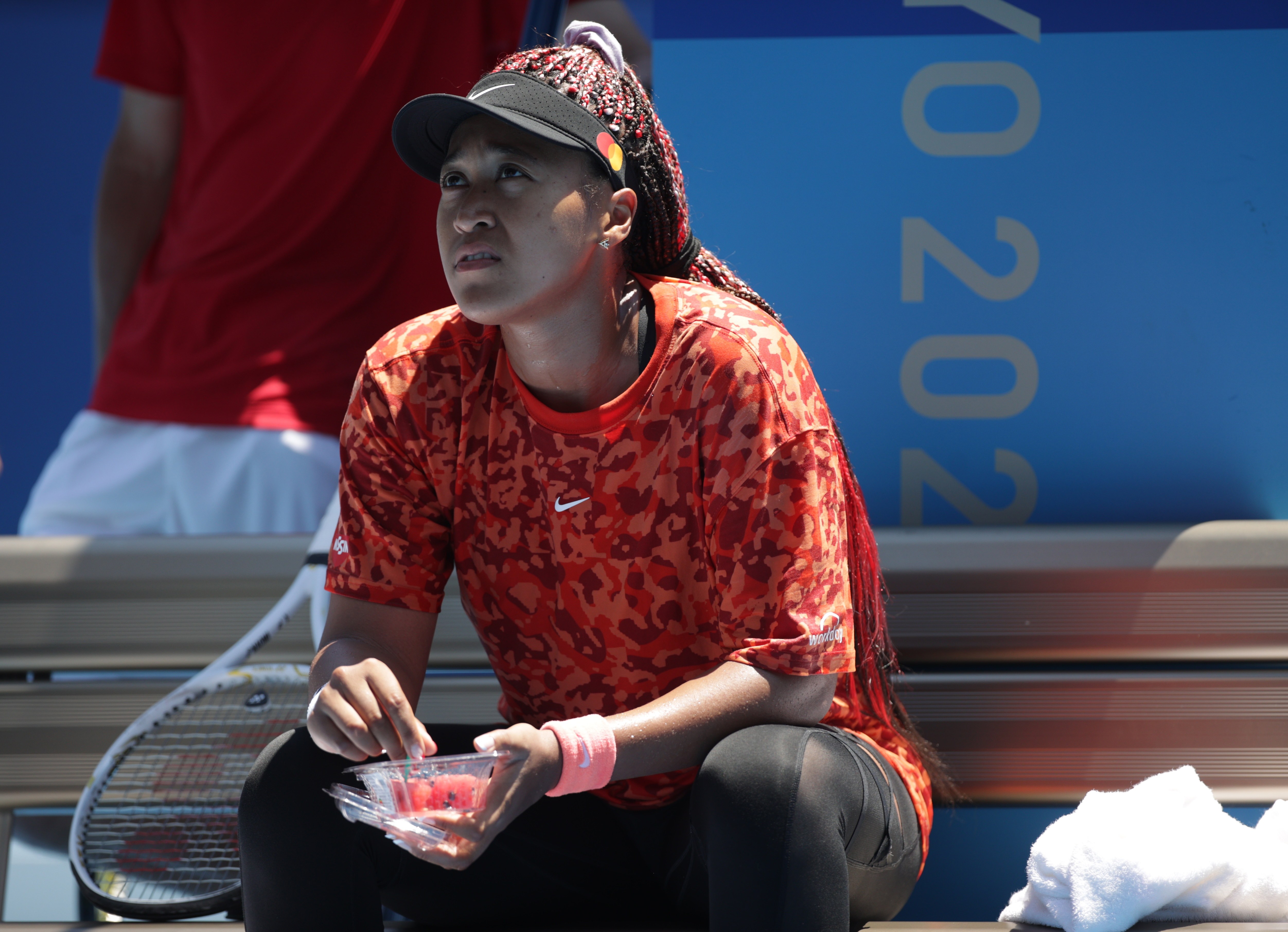 Tokyo 2020 Olympics - Tennis Training - Ariake Tennis Park, Tokyo, Japan - July 19, 2021 Naomi Osaka of Japan during training REUTERS/Hannah Mckay
