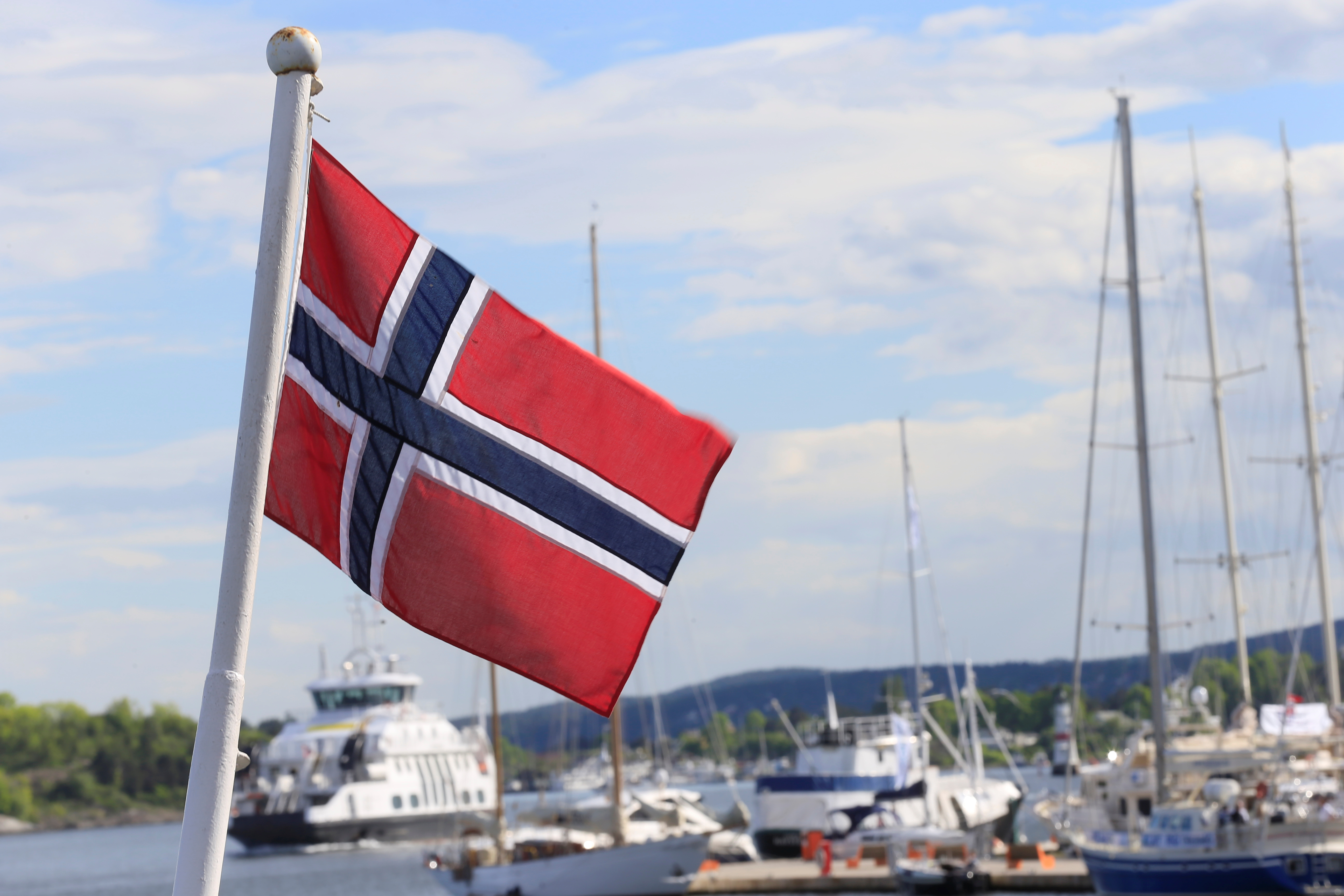 The Norwegian flag flutters in Oslo, Norway, May 31, 2017. REUTERS/Ints Kalnins