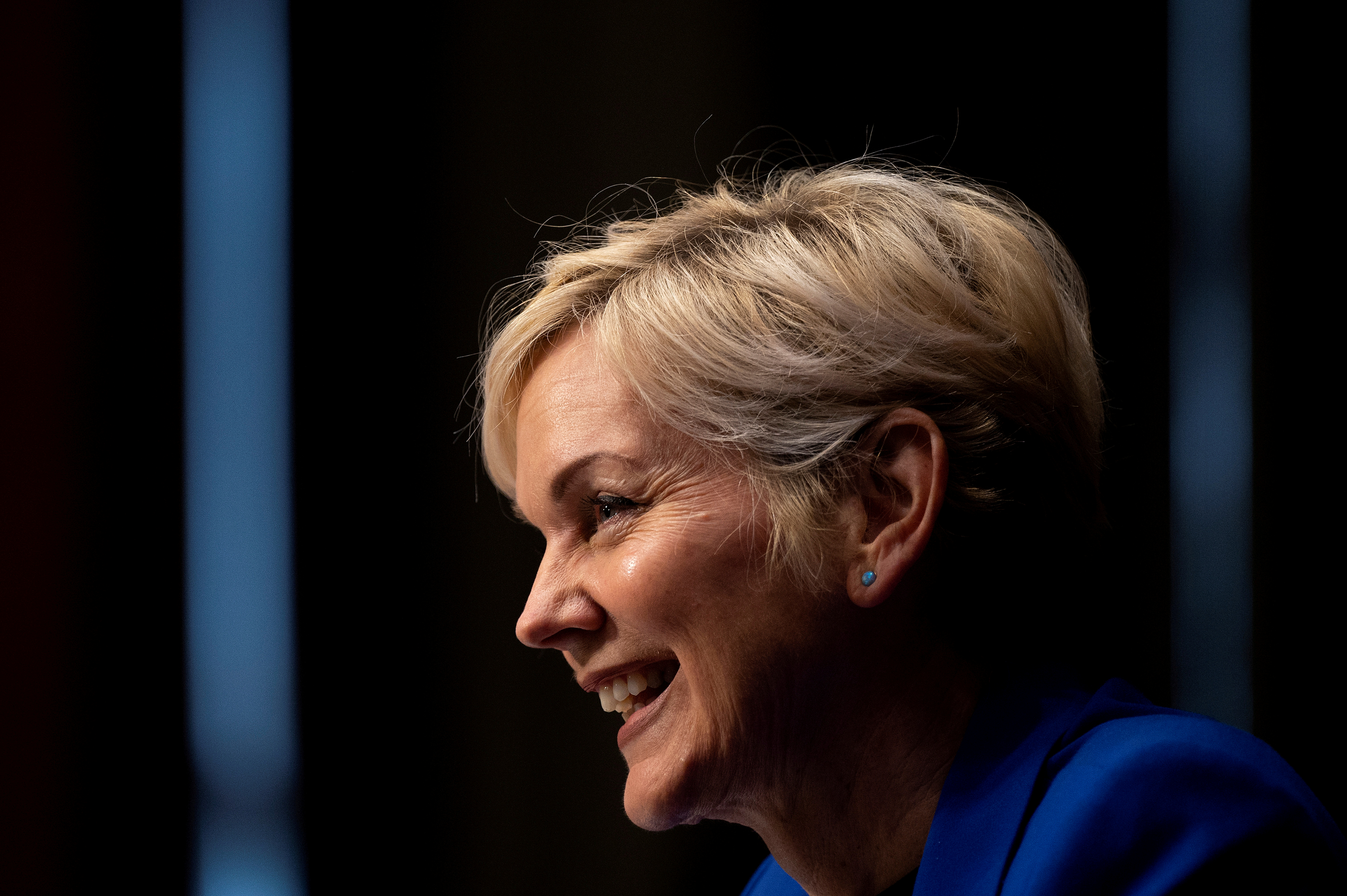 Former Michigan Governor Jennifer Granholm  testifies before the Senate Energy and Natural Resources Committee during a hearing to examine her nomination to be Secretary of Energy, on Capitol Hill in Washington, D.C., U.S., January 27, 2021. Jim Watson/Pool via REUTERS/File Photo