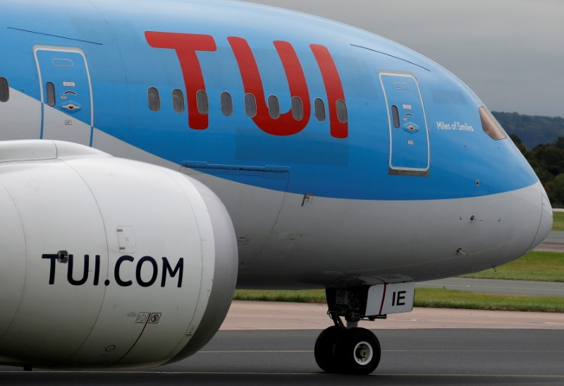 A TUI Boeing 787-8 Dreamliner prepares to take off from Manchester Airport, Britain, September 4, 2018. REUTERS/Phil Noble/File Photo
