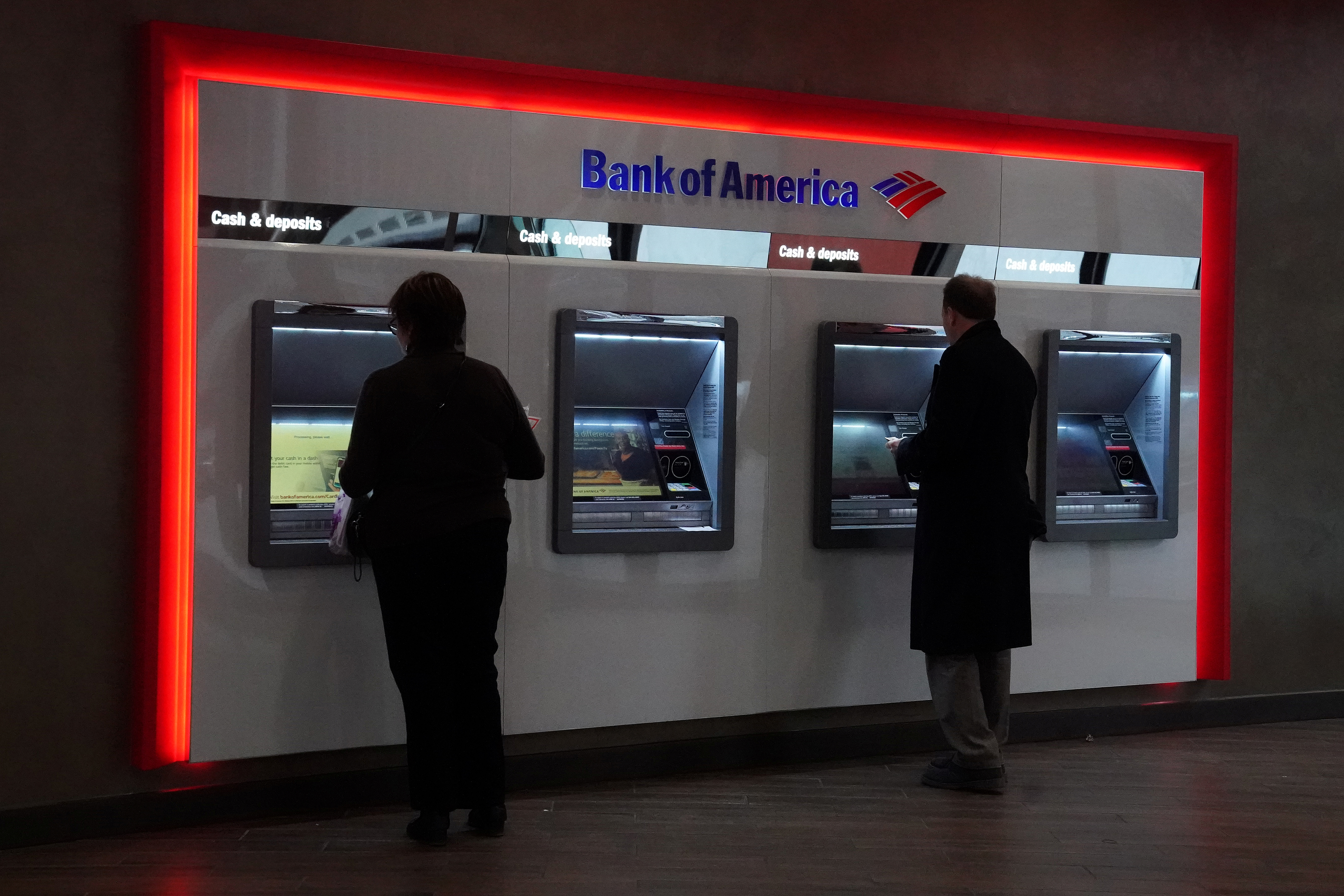 A Bank of America is pictured in the Manhattan borough of New York City, January 30, 2019. REUTERS/Carlo Allegri