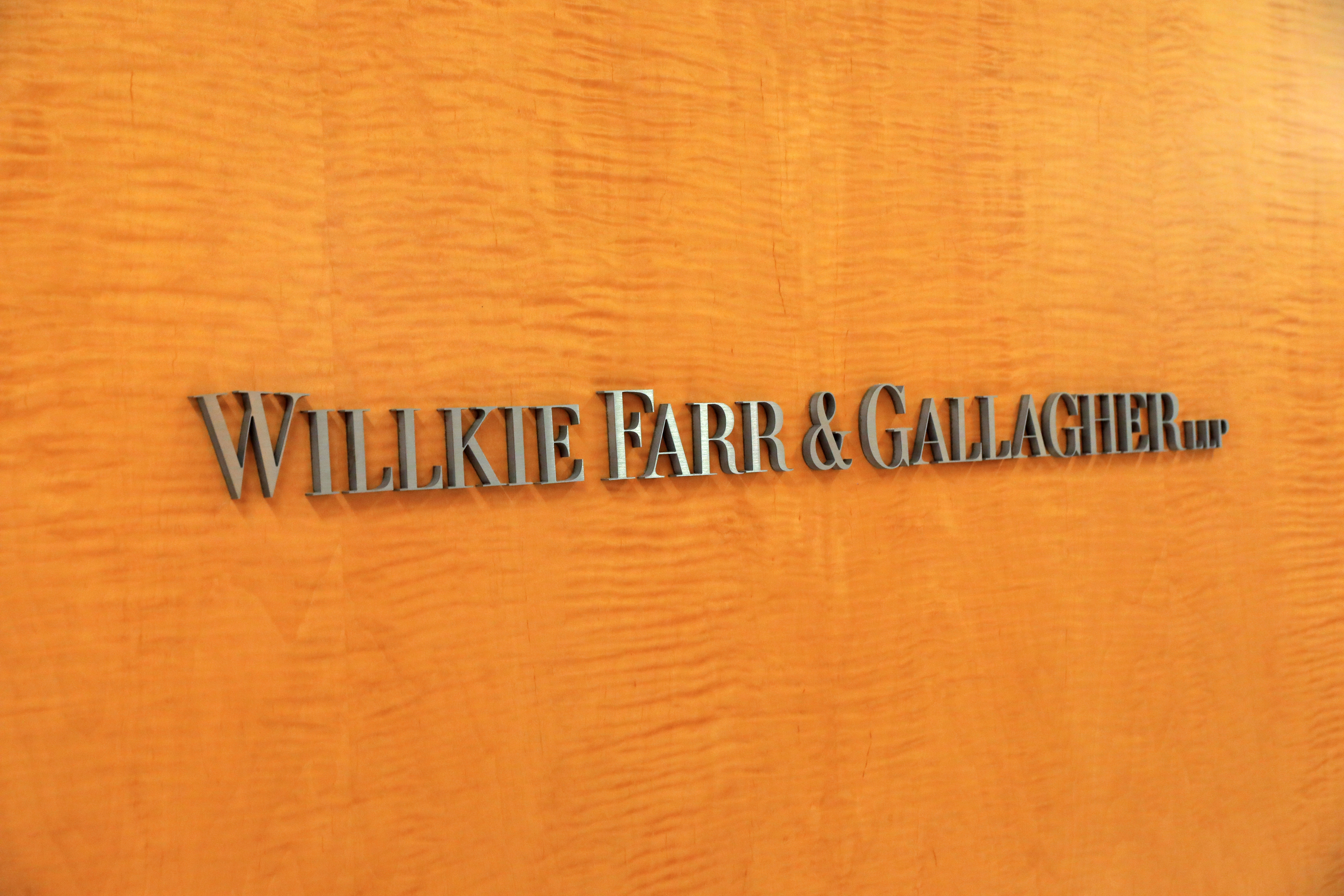 Willkie Farr & Gallagher offices in New York City. REUTERS/Andrew Kelly