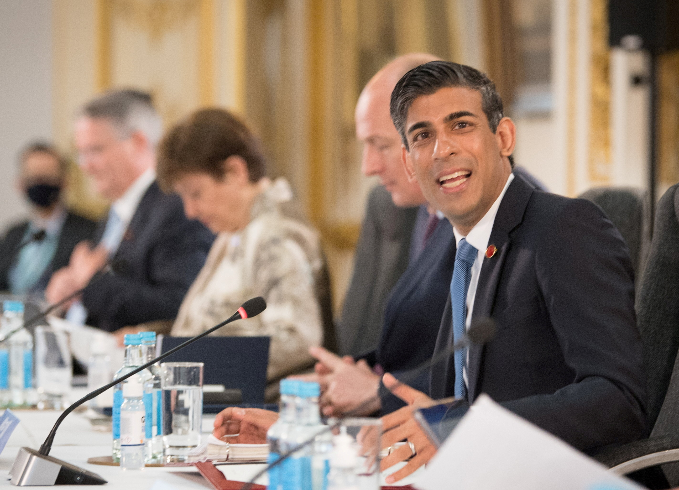 Britain's Chancellor of the Exchequer Rishi Sunak speaks at a meeting of finance ministers from across the G7 nations in London, Britain June 4, 2021. Stefan Rousseau/PA Wire/Pool via REUTERS/File Photo