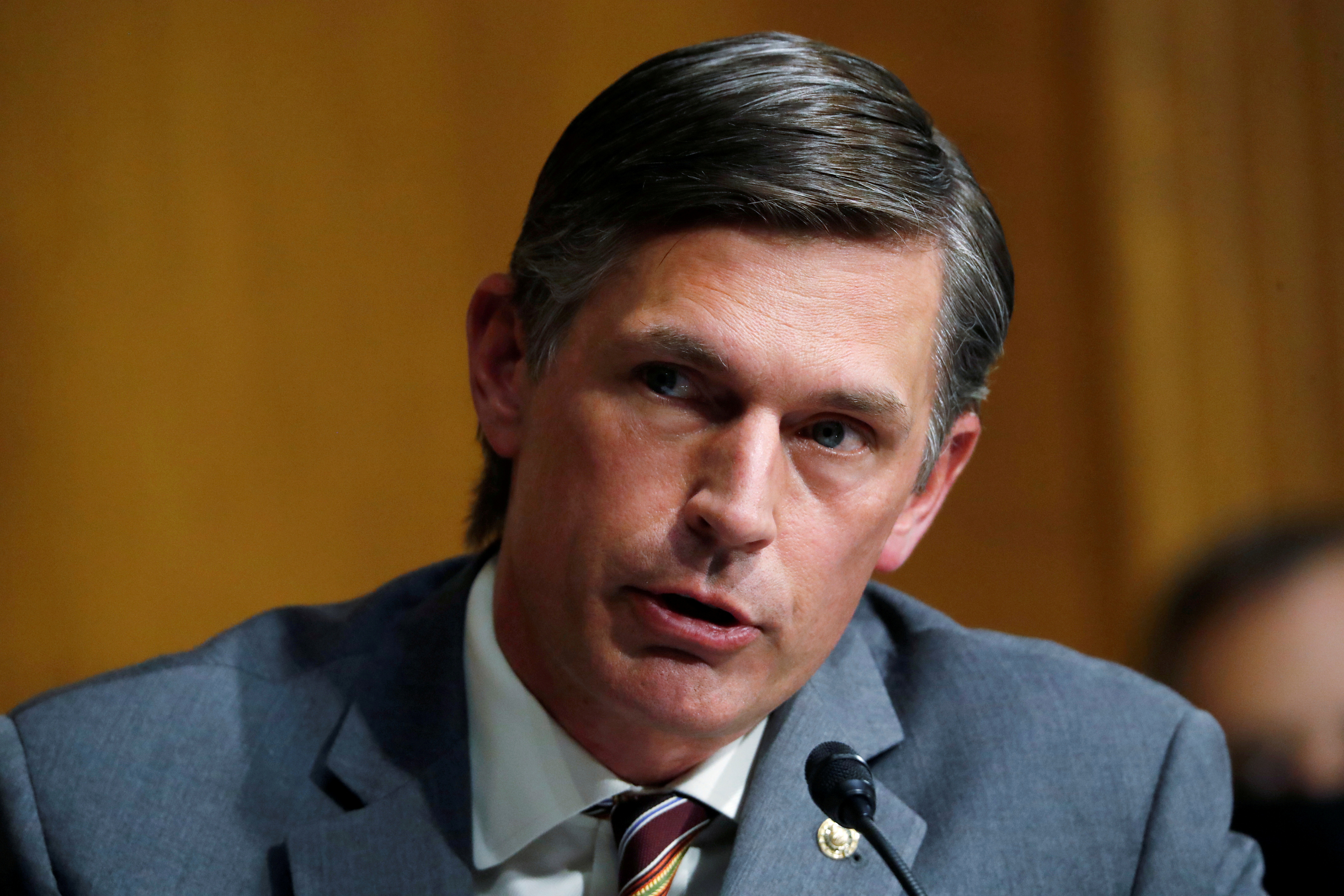 U.S.  Sen. Martin Heinrich (D-NM) speaks during a Senate Intelligence Committee nomination hearing for Rep. John Ratcliffe (R-TX), on Capitol Hill in Washington, U.S., May 5, 2020. Andrew Harnik/Pool via REUTERS//File Photo