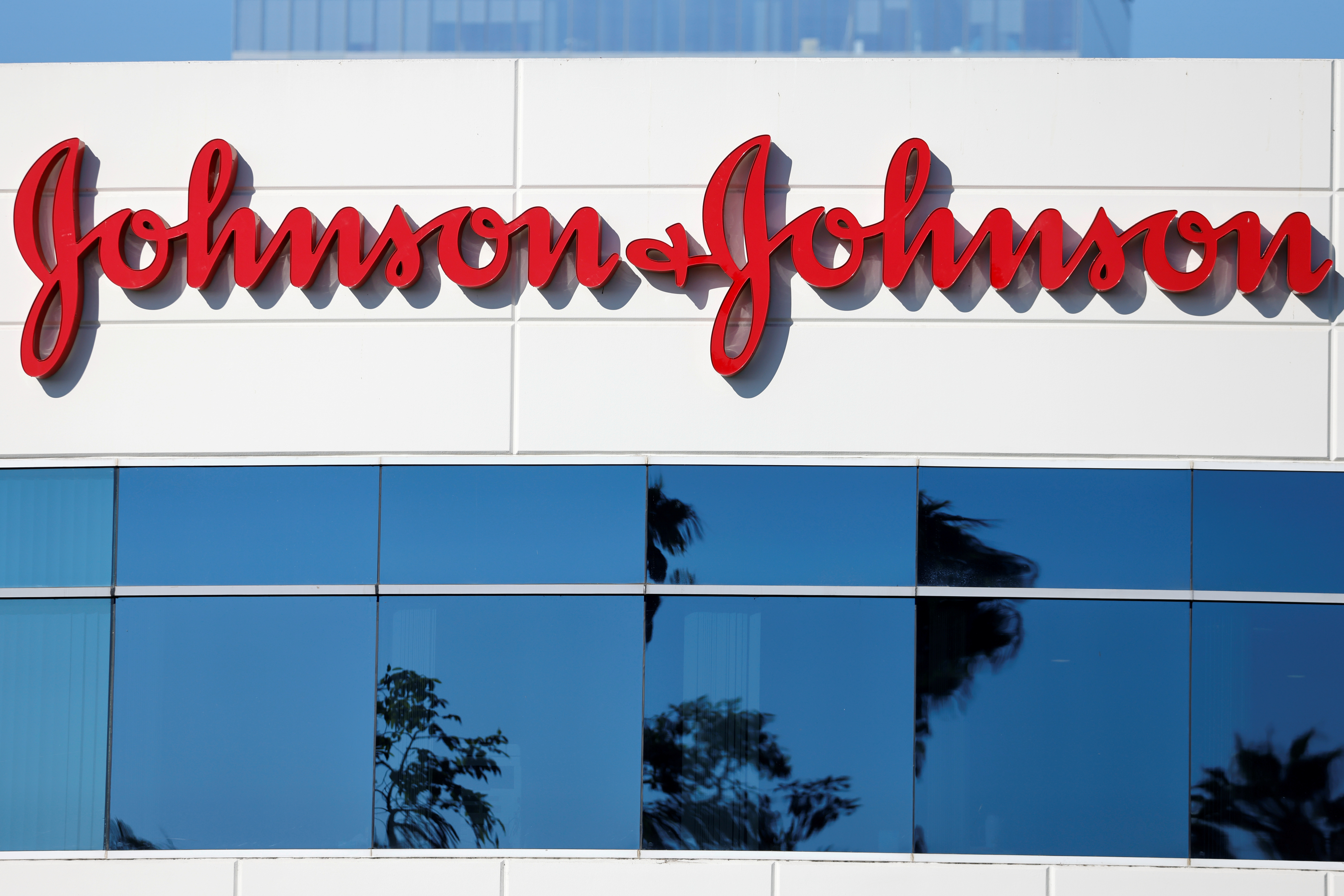 Johnson & Johnson company offices are shown in Irvine, California, U.S., October 14, 2020. REUTERS/Mike Blake/File Photo