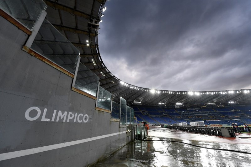 Soccer Football - Europa League - Quarter Final Second Leg - AS Roma v Ajax Amsterdam - Stadio Olimpico, Rome, Italy - April 15, 2021 General view inside the stadium before the match REUTERS/Alberto Lingria/File Photo
