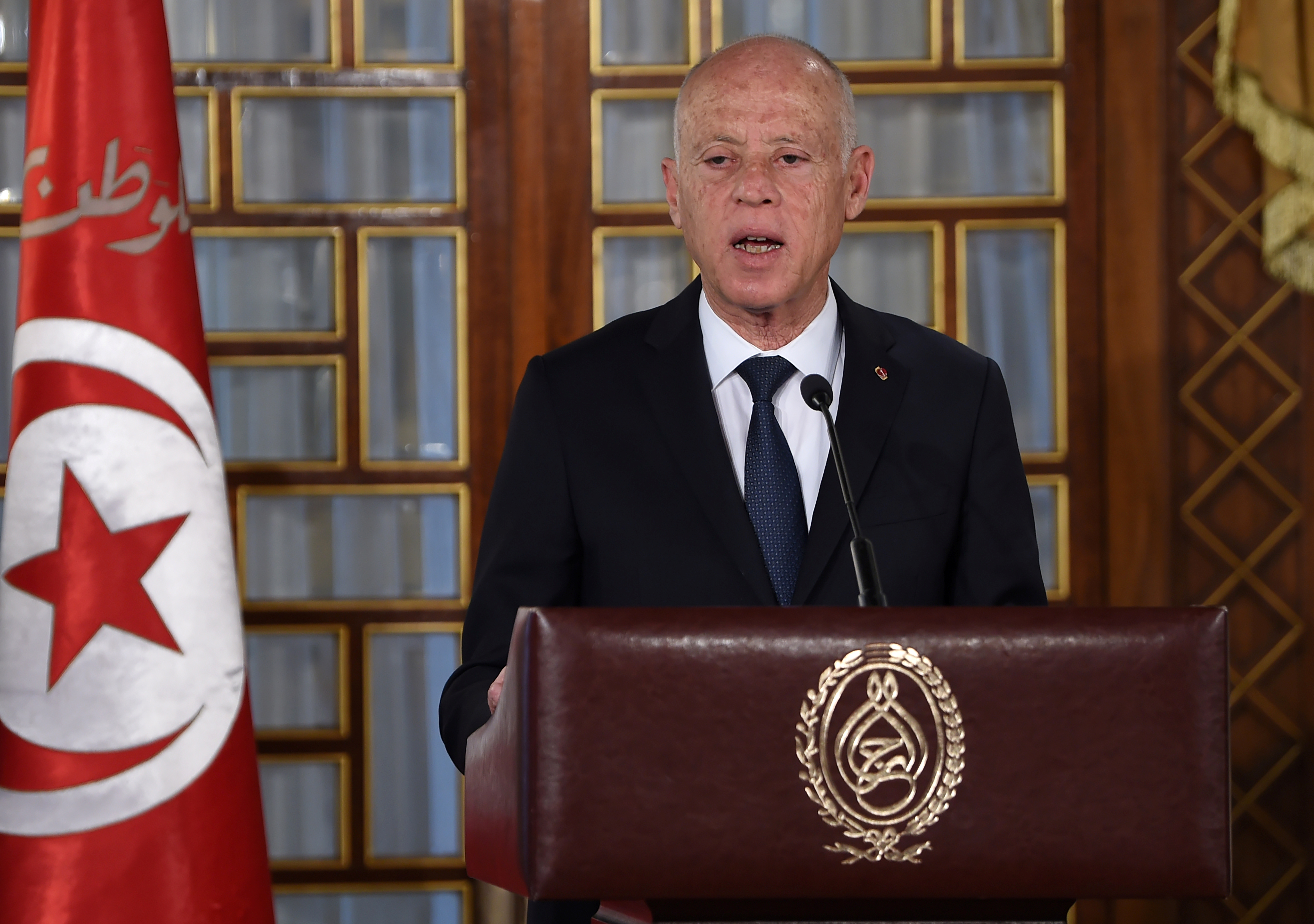 Tunisia's President Kais Saied.  Fethi Belaid/Pool via REUTERS