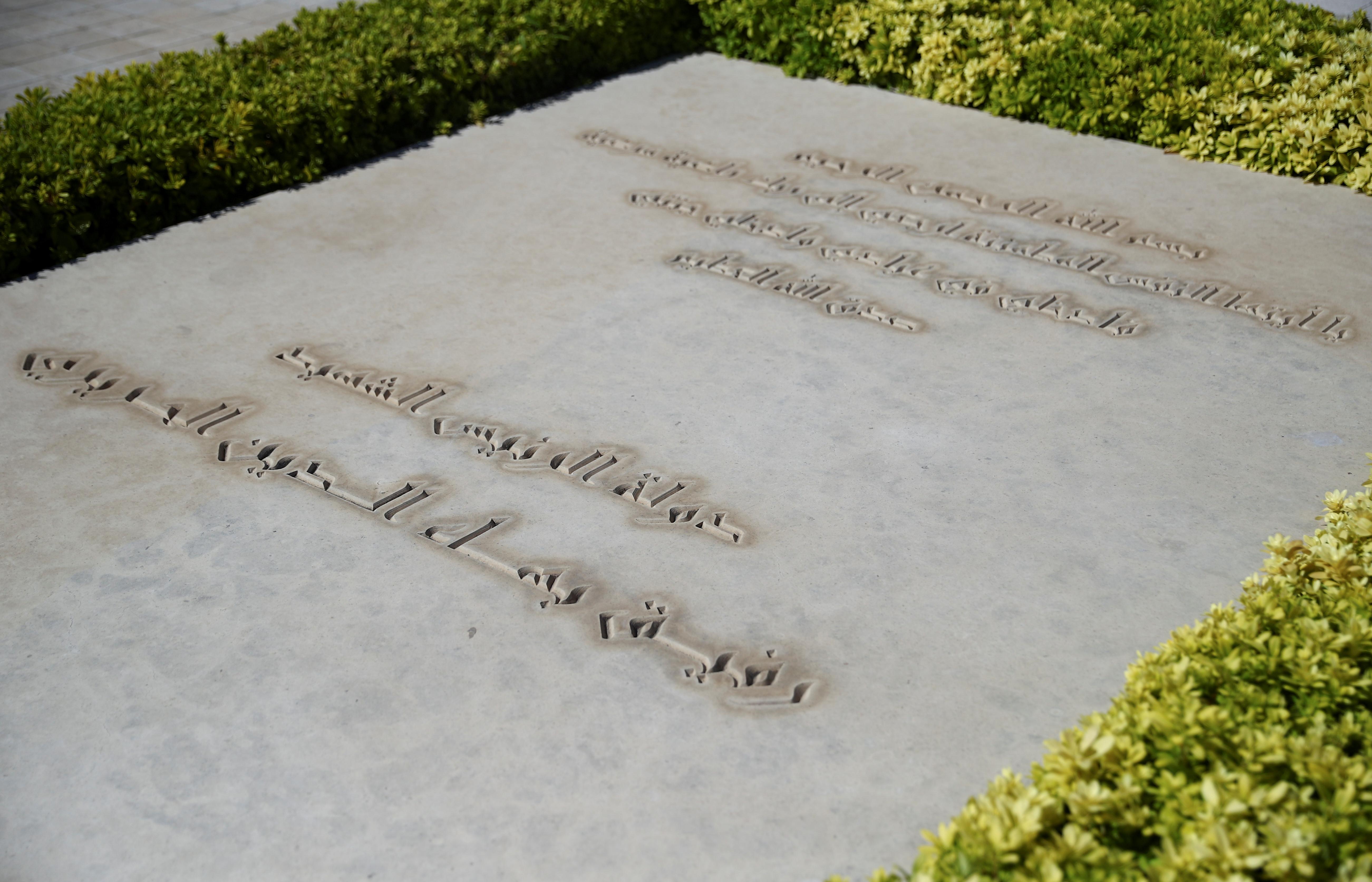 A view shows the grave of assassinated former Lebanese prime minister Rafik al-Hariri in Beirut, Lebanon, August 18, 2020. REUTERS/Hannah McKay