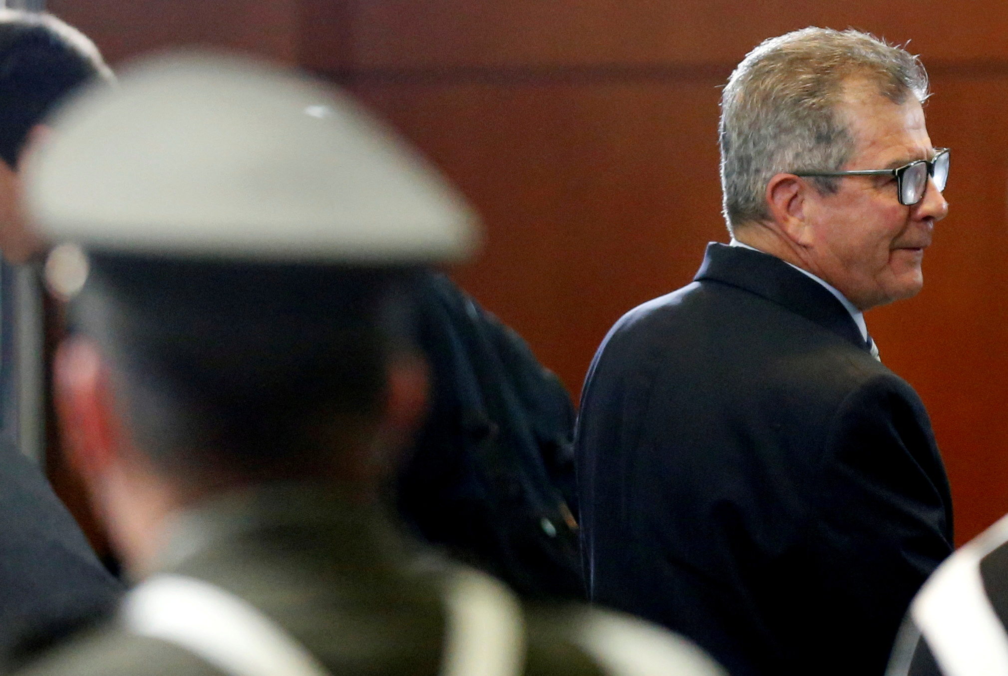 Former commander of the Colombian Army General Mario Montoya attends a hearing at the Special Jurisdiction for Peace (JEP) court in Bogota, Colombia, September 13, 2018. REUTERS/Luisa Gonzalez/File Photo