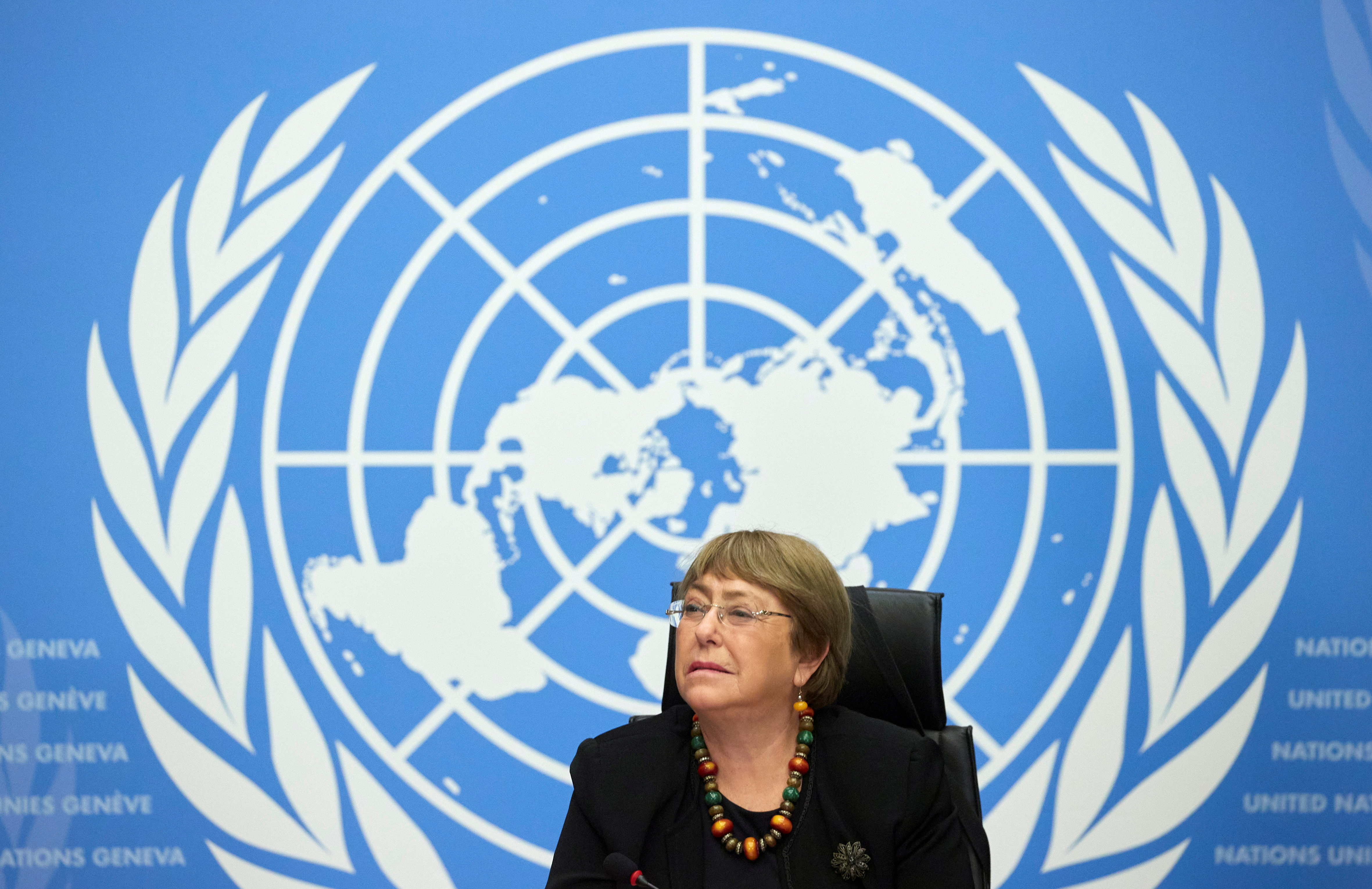 U.N. High Commissioner for Human Rights Michelle Bachelet attends a news conference at the European headquarters of the United Nations in Geneva, Switzerland, December 9, 2020. REUTERS/Denis Balibouse/File Photo