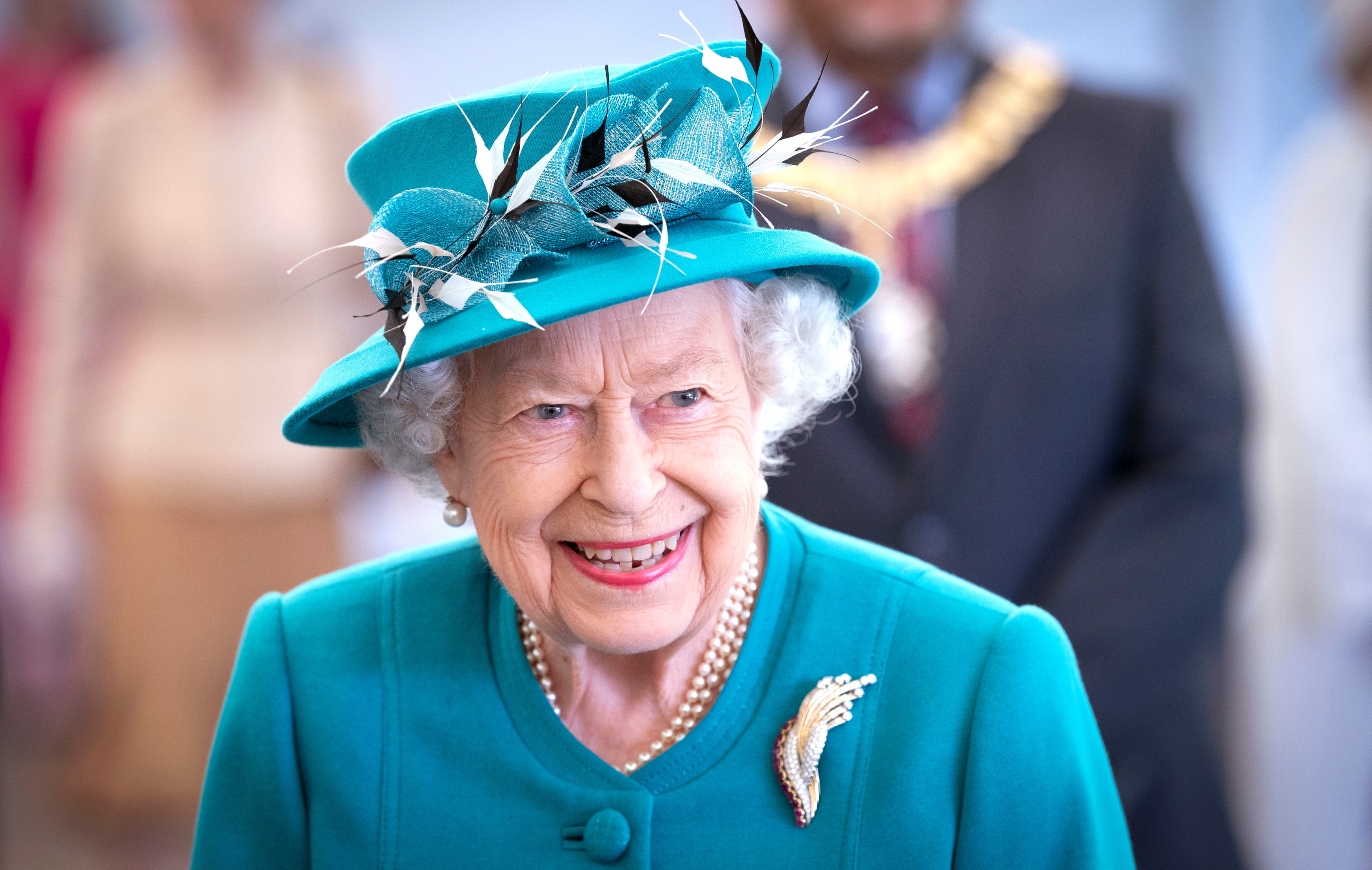Britain's Queen Elizabeth visits the Edinburgh Climate Change Institute at the University of Edinburgh, as part of her traditional trip to Scotland for Holyrood Week, in Edinburgh, Scotland, Britain July 1, 2021. Jane Barlow/Pool via REUTERS