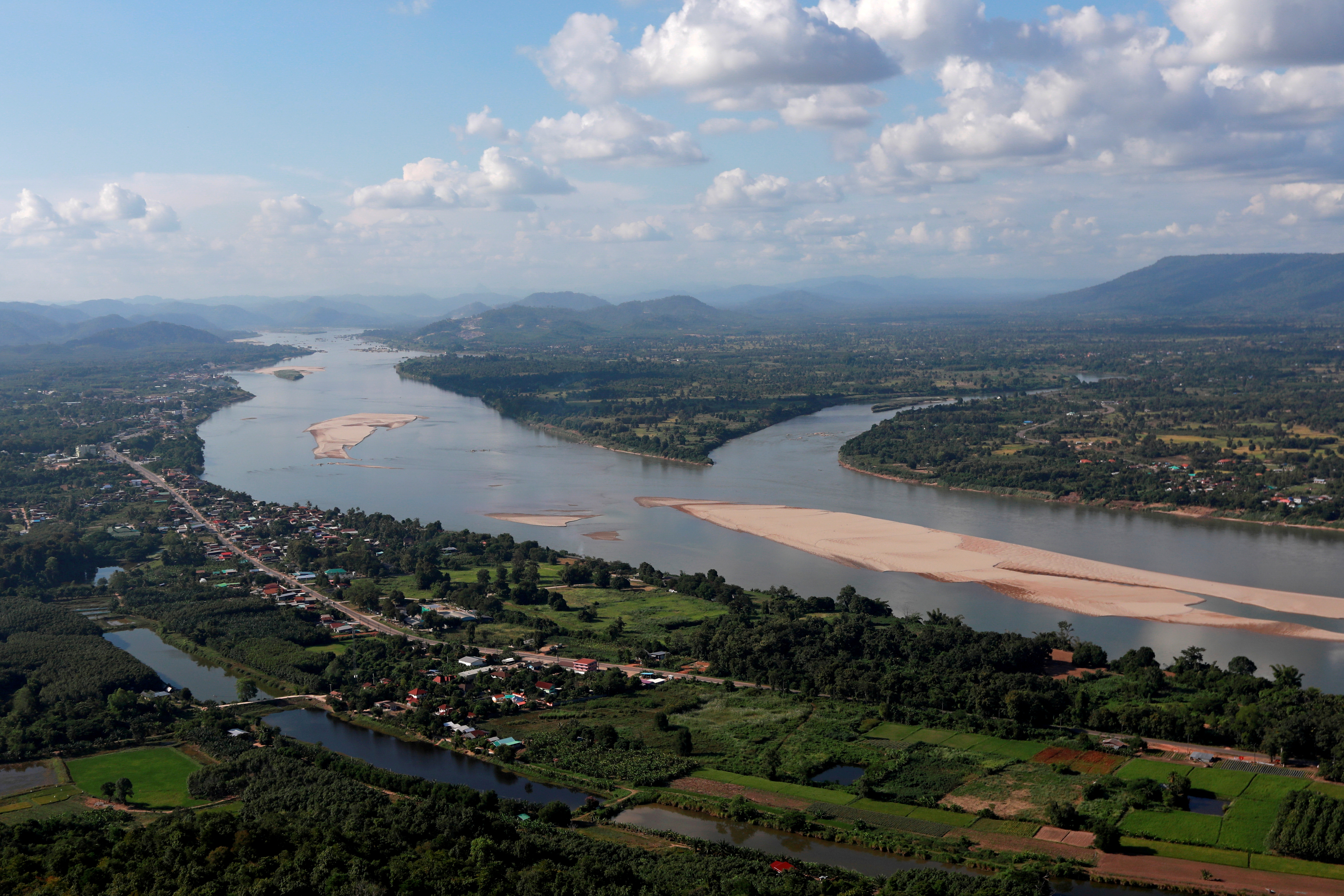 A view of the Mekong river bordering Thailand and Laos is seen from the Thai side in Nong Khai, Thailand, October 29, 2019. REUTERS/Soe Zeya Tun/File Photo