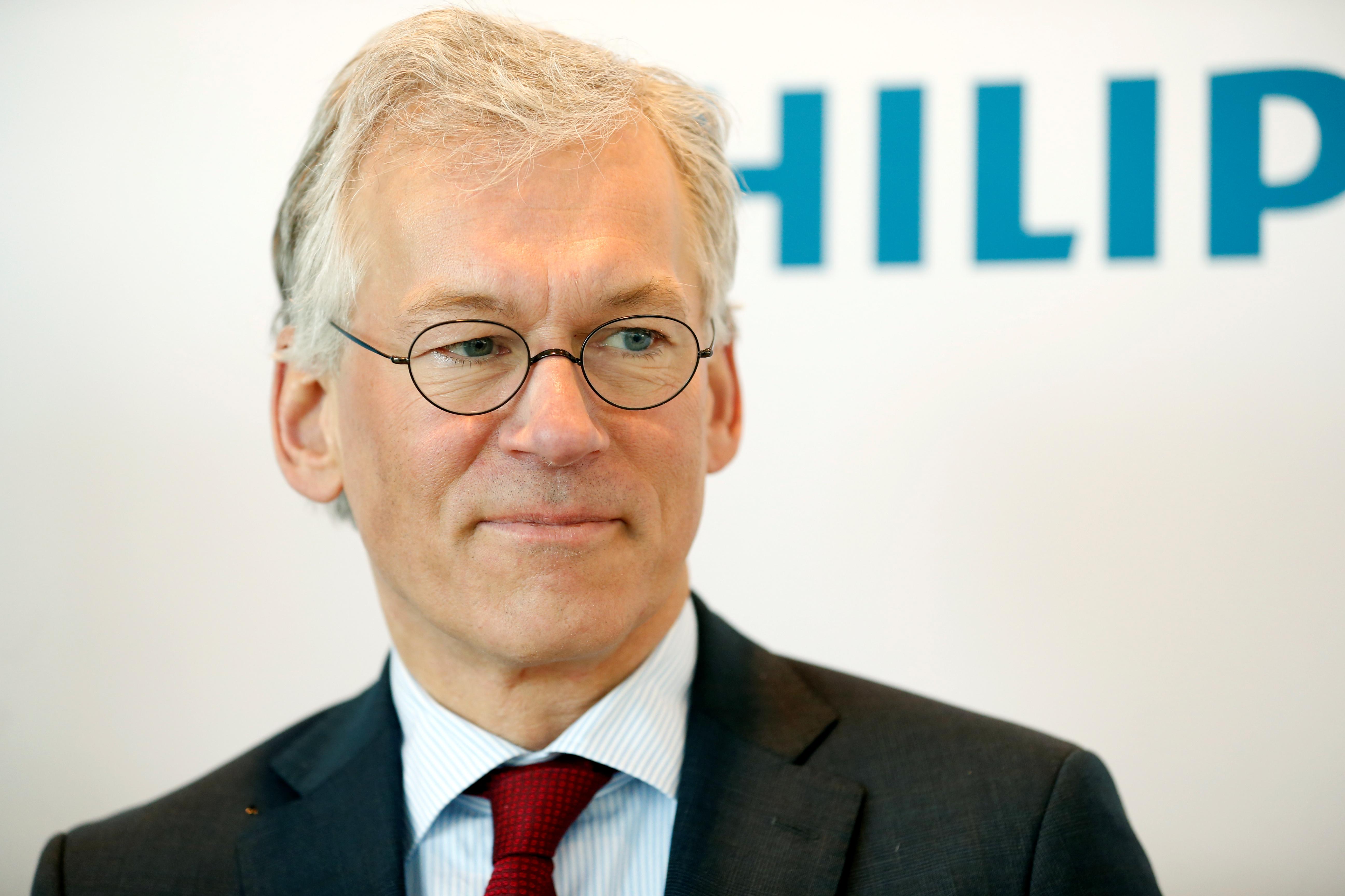 Philips CEO Frans van Houten is pictured in Amsterdam, Netherlands, January 29, 2019. REUTERS/Eva Plevier