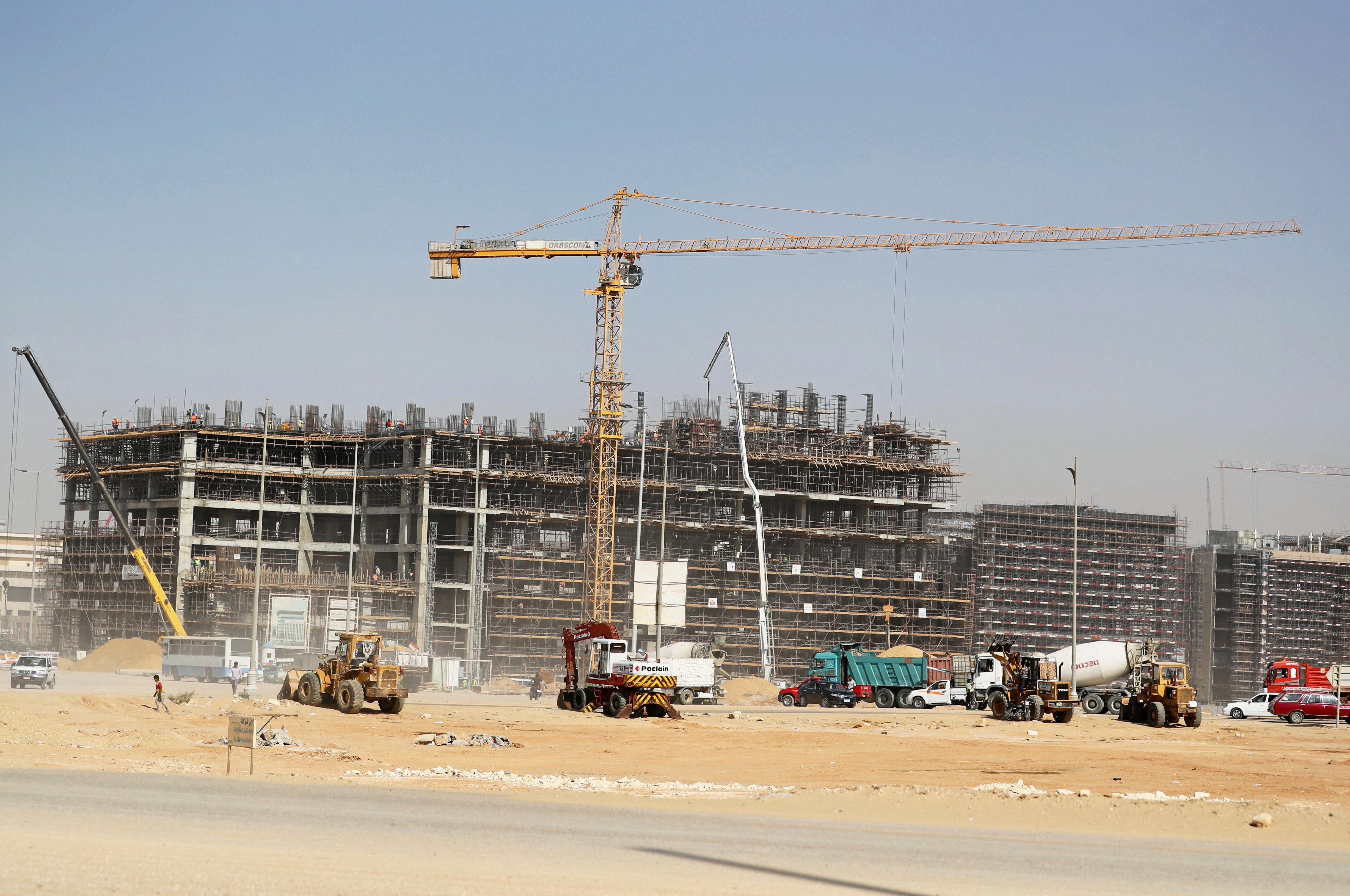A general view of under constructing buildings in the New Administrative Capital (NAC) east of Cairo, Egypt July 5, 2021. Picture taken July 5, 2021. REUTERS/Mohamed Abd El Ghany