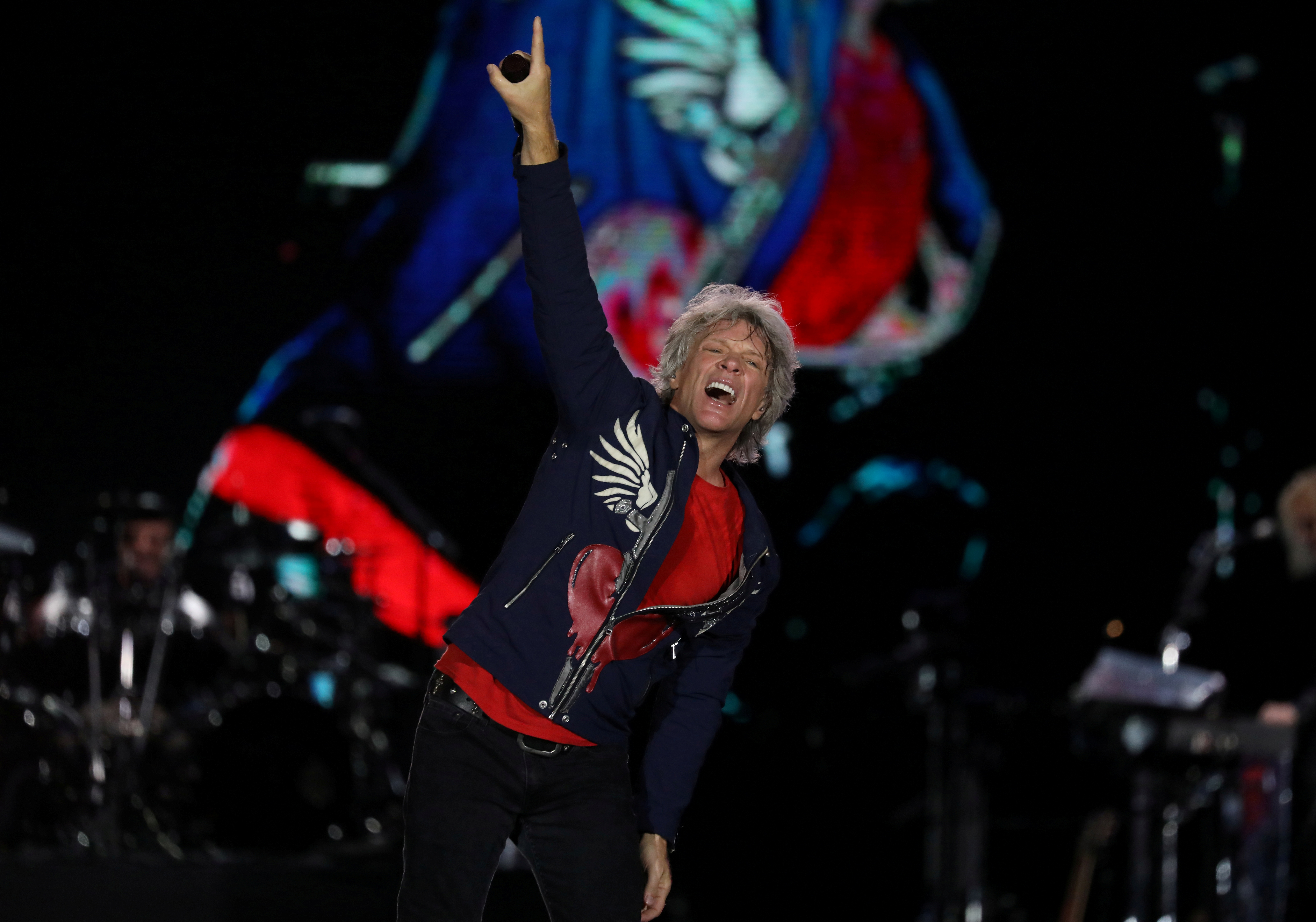 Jon Bon Jovi performs during the Rock in Rio Music Festival in Rio de Janeiro, Brazil September 30, 2019. REUTERS/Pilar Olivares/File Photo