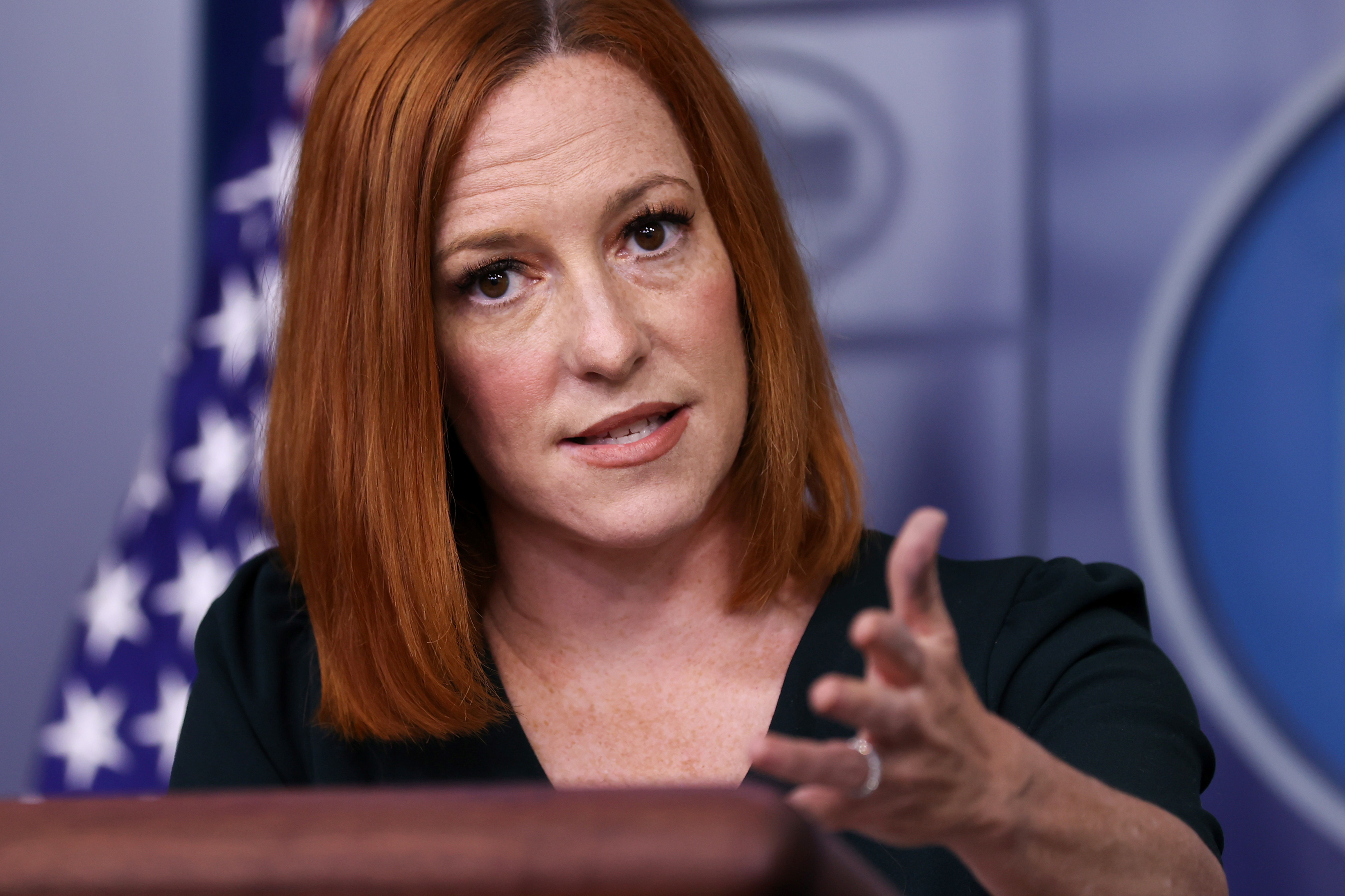 White House Press Secretary Jen Psaki holds the daily press briefing at the White House in Washington, U.S. May 4, 2021.  REUTERS/Jonathan Ernst