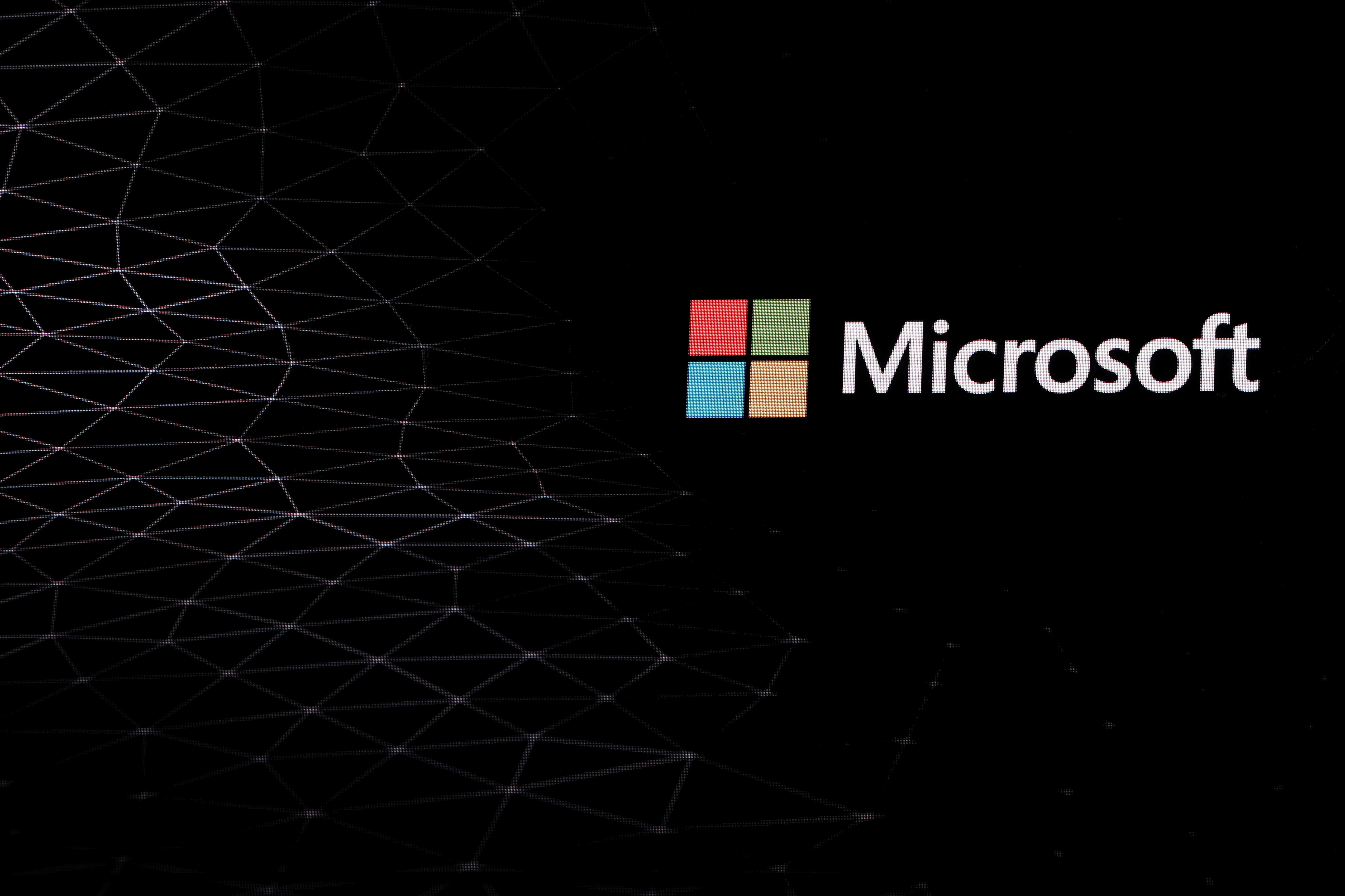 The Microsoft logo is pictured ahead of the Mobile World Congress in Barcelona, Spain February 24, 2019. REUTERS/Sergio Perez