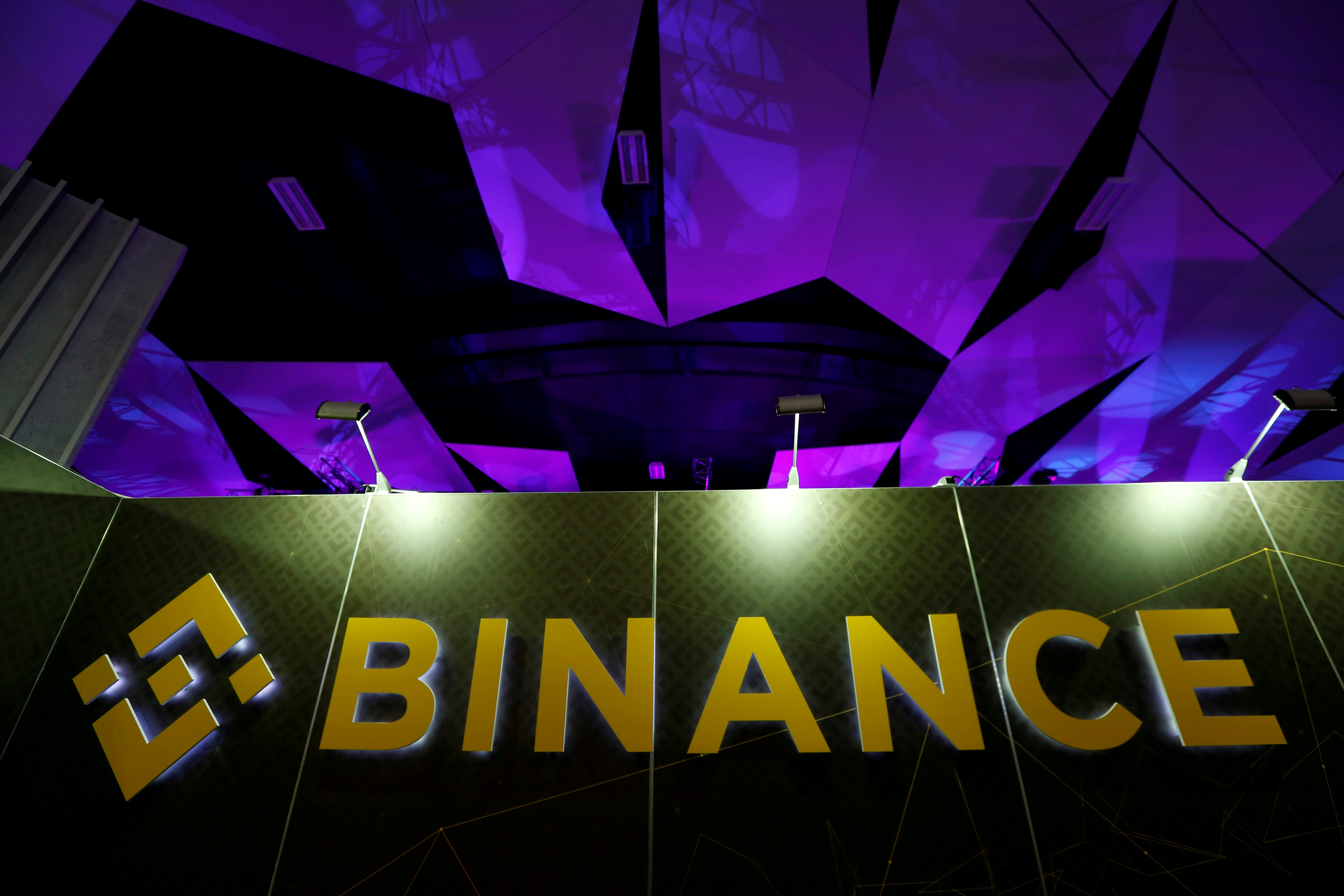 The logo of Binance is seen on their exhibition stand at the Delta Summit, Malta's official Blockchain and Digital Innovation event promoting cryptocurrency, in St Julian's, Malta October 4, 2018. REUTERS/Darrin Zammit Lupi/File Photo