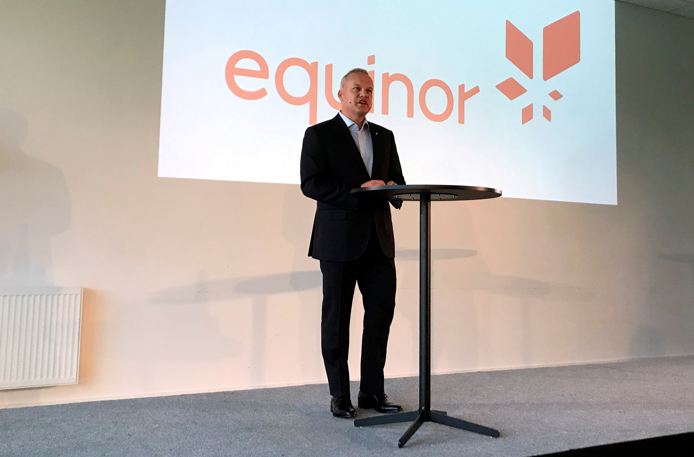 Anders Opedal, the new chief executive of Norwegian oil firm Equinor, speaks at a news conference in Fornebu, a suburb of Oslo, Norway August 10, 2020. REUTERS/Gwladys Fouche