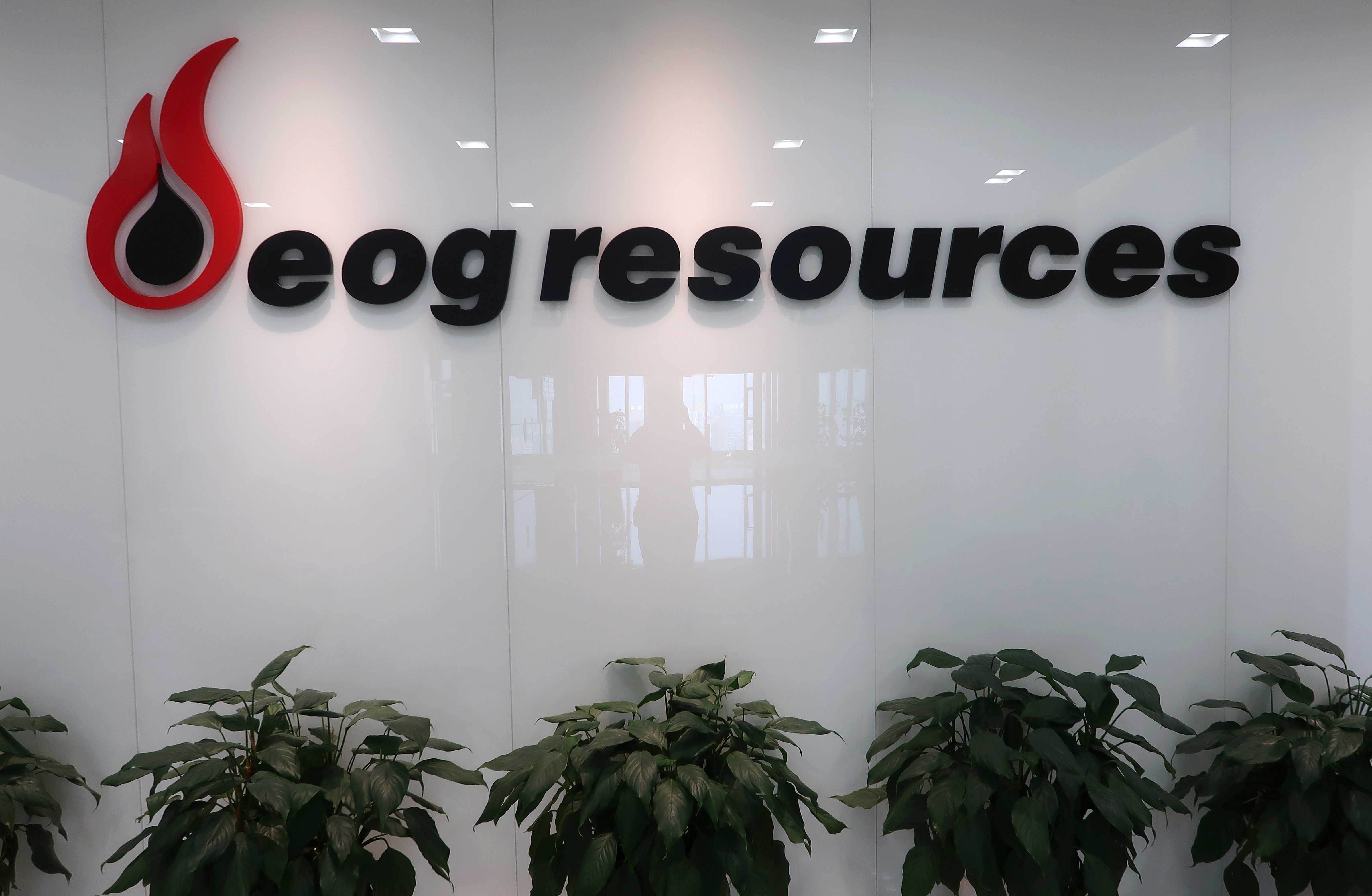 The logo of U.S. oil and gas company EOG Resources is seen in its office in Chongqing, China December 15, 2017. REUTERS/Chen Aizhu