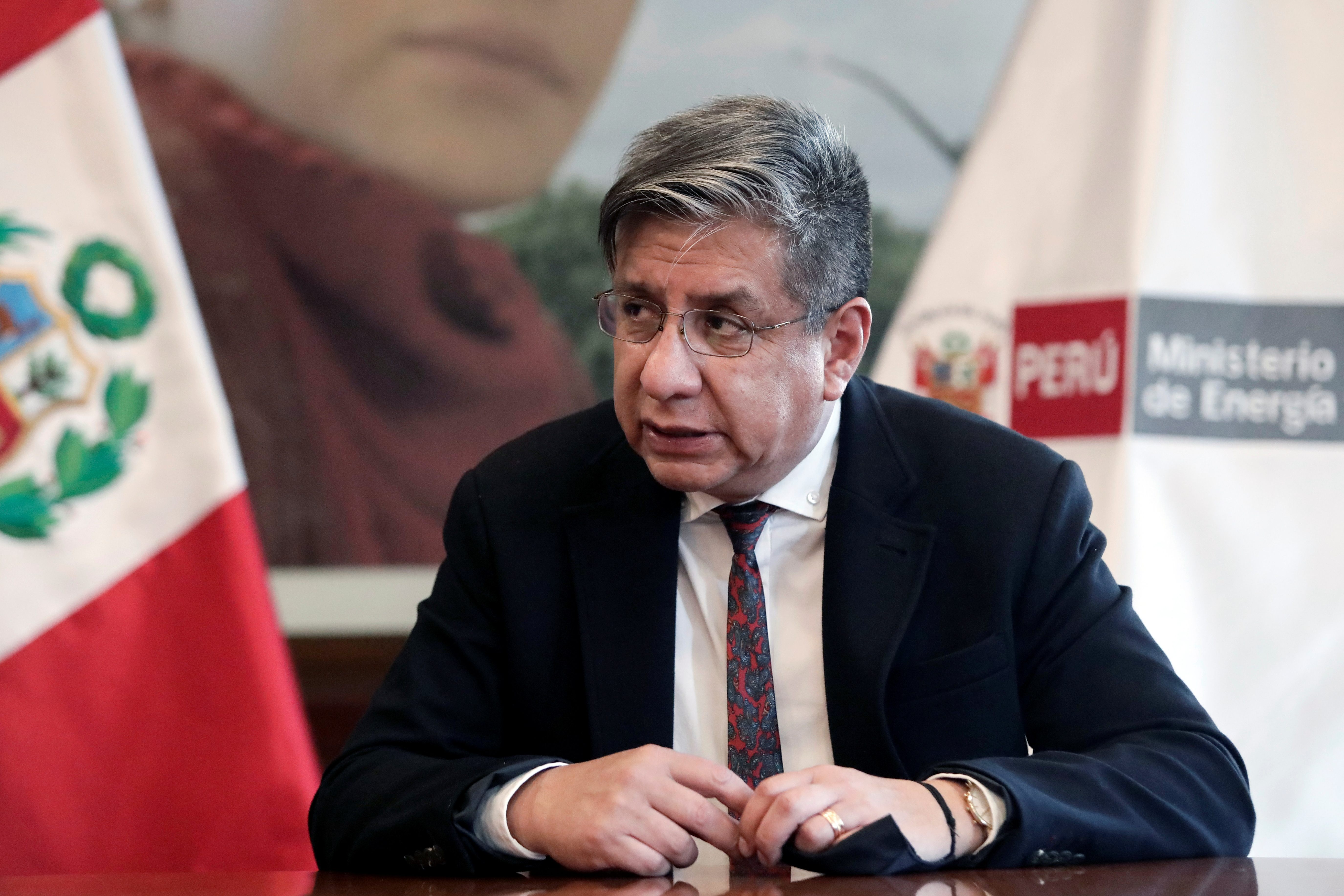 Peru's Minister of Energy and Mines Ivan Merino attends an interview with Reuters, in Lima, Peru September 30, 2021. REUTERS/Angela Ponce