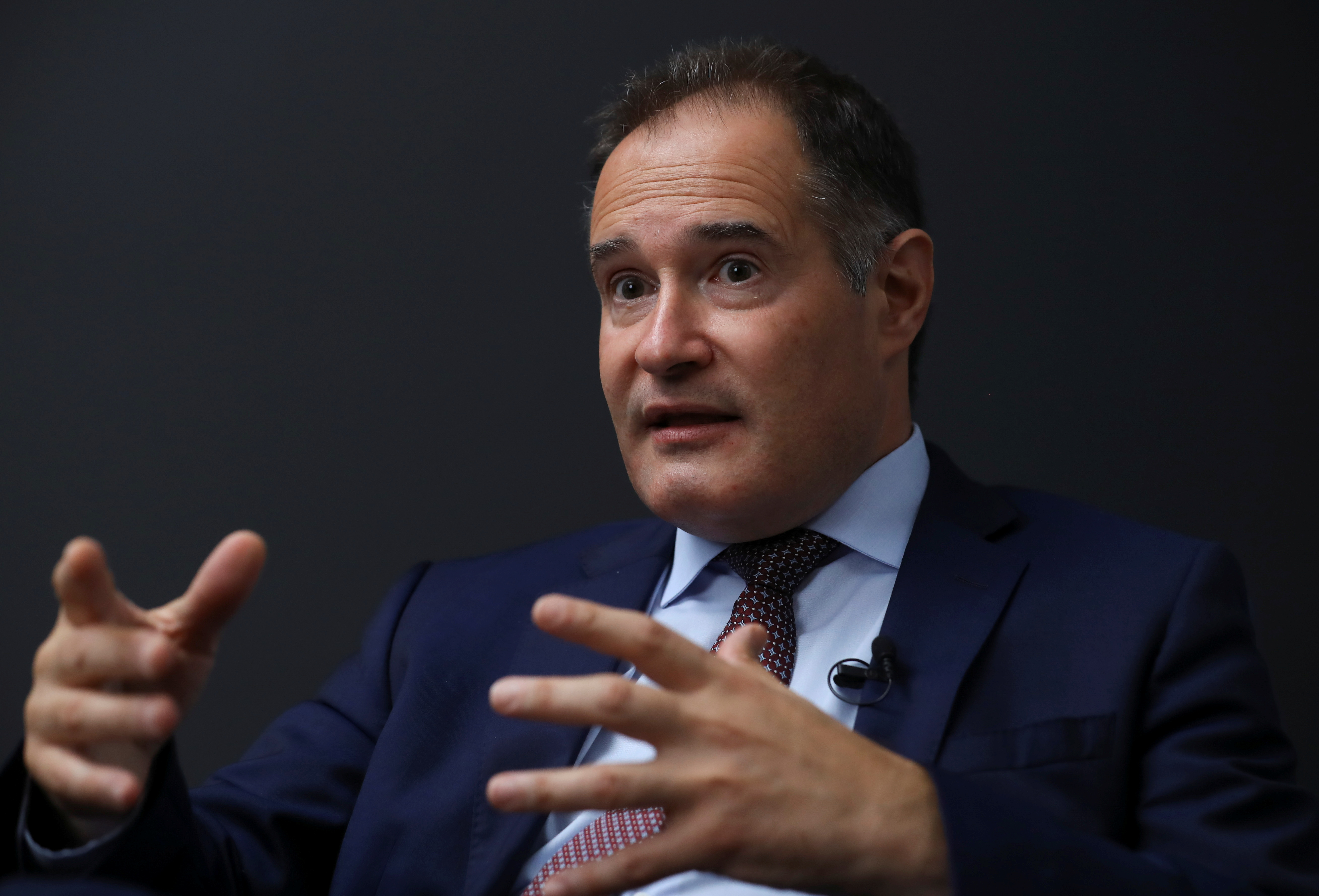 Fabrice Leggeri, Executive Director of EU border agency Frontex, speaks during an interview with Reuters at Frontex headquarters in Warsaw, Poland September 8, 2021. REUTERS/Kacper Pempel