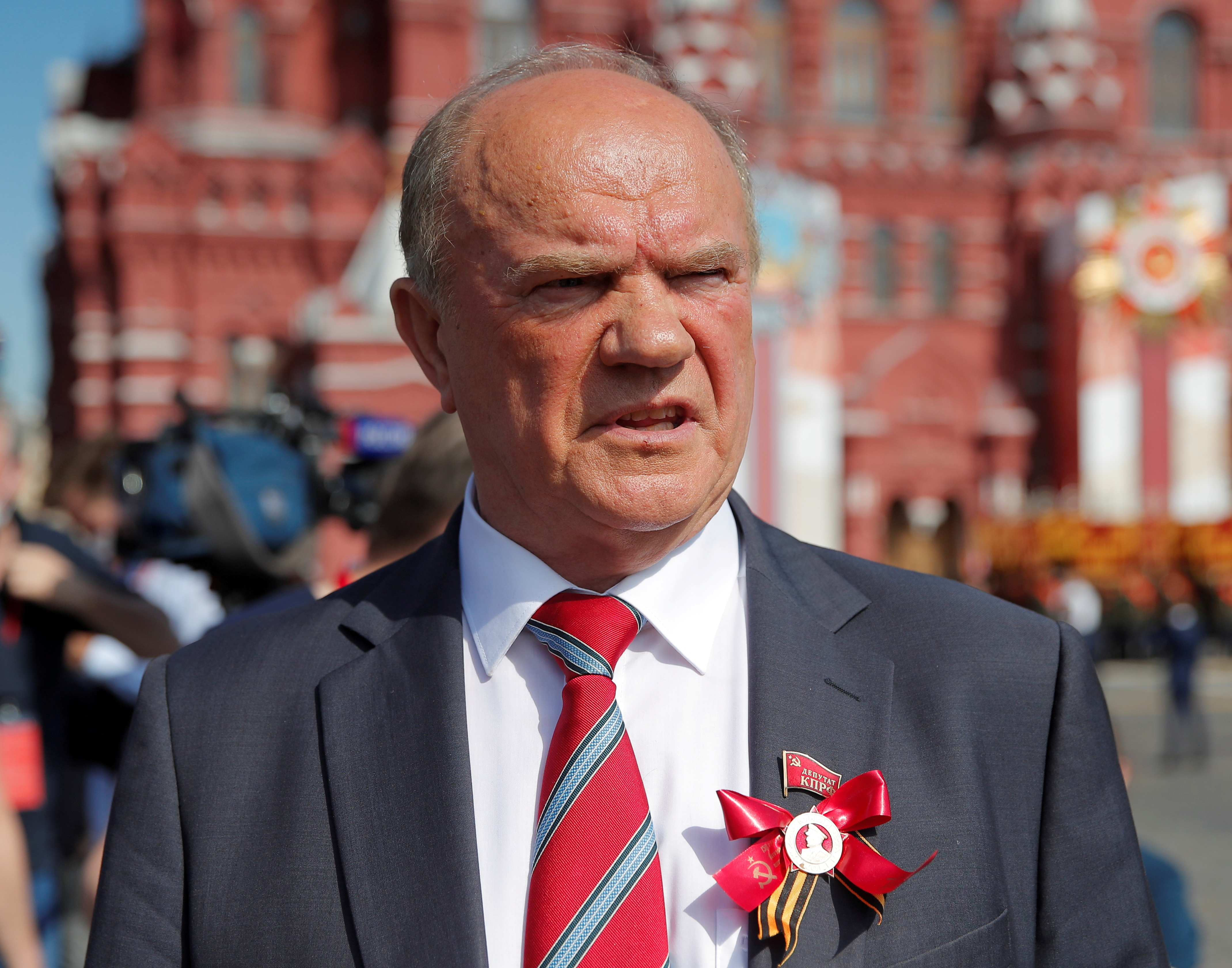 Leader of the Russian Communist Party Gennady Zyuganov is seen in Red Square before the Victory Day Parade in Moscow, Russia June 24, 2020. REUTERS/Maxim Shemetov