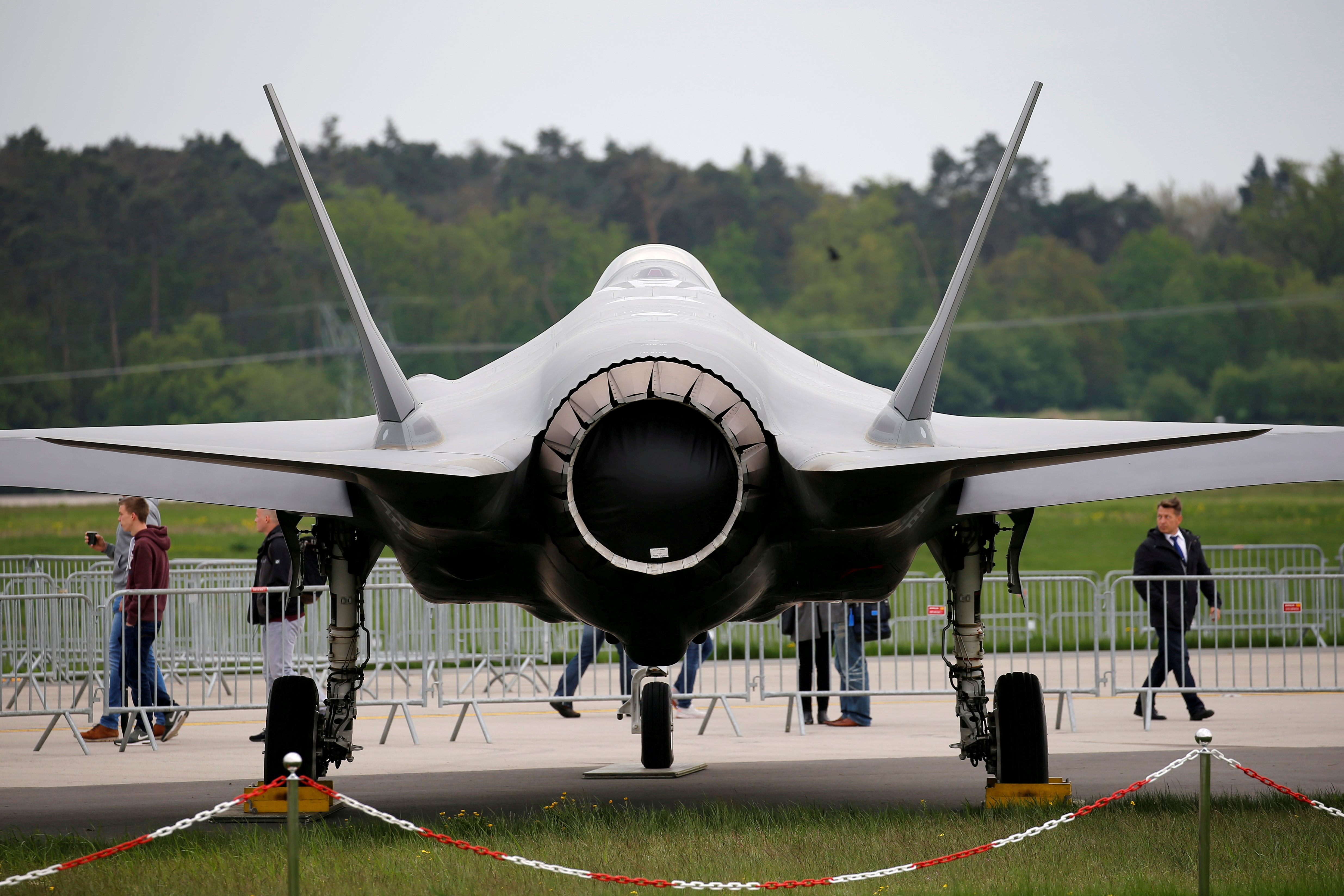 A Lockheed Martin F-35 aircraft is seen at the ILA Air Show in Berlin, Germany, April 25, 2018.    REUTERS/Axel Schmidt/File Photo