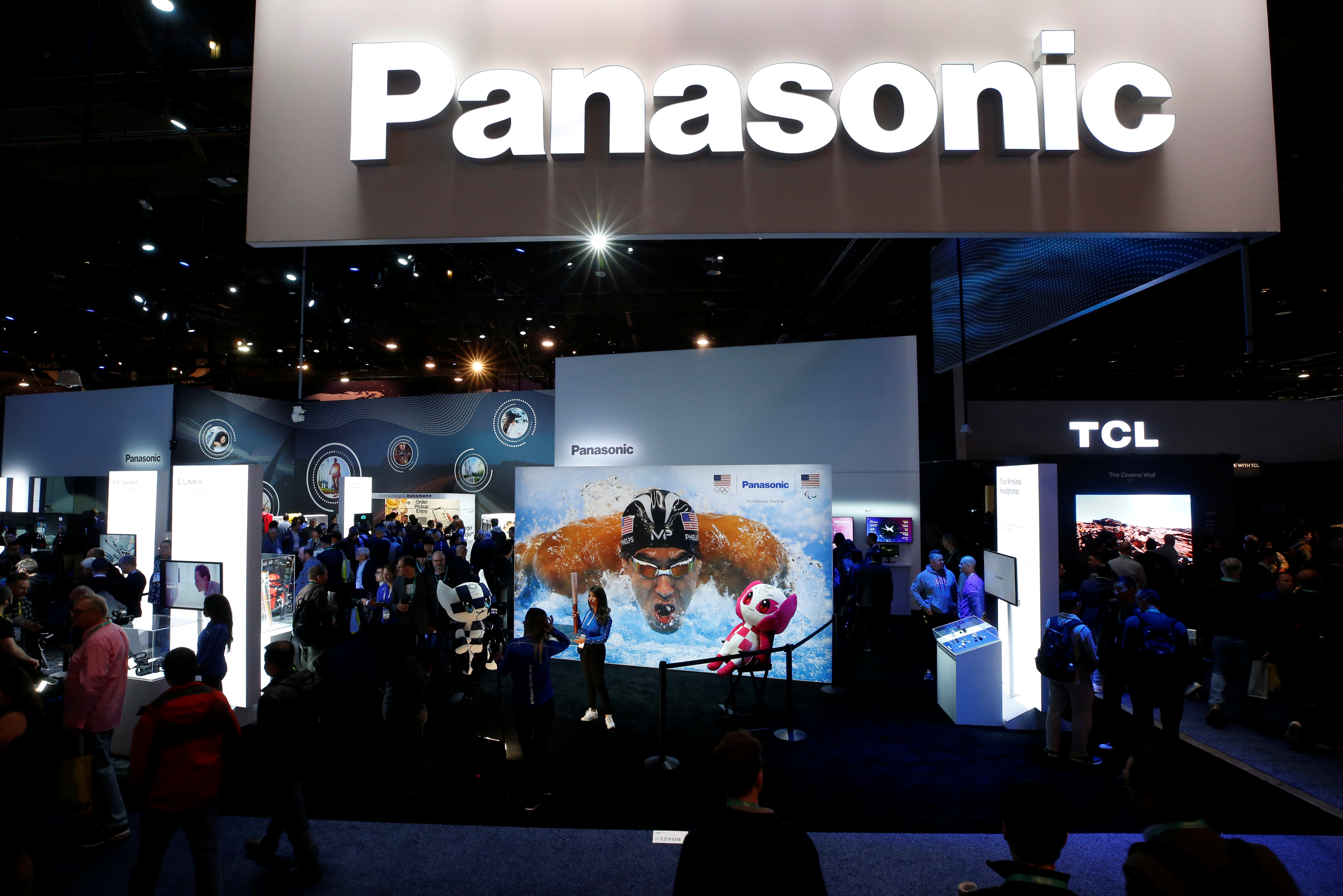 The Panasonic booth is shown during the 2020 CES in Las Vegas, Nevada, U.S. January 7, 2020. REUTERS/Steve Marcus