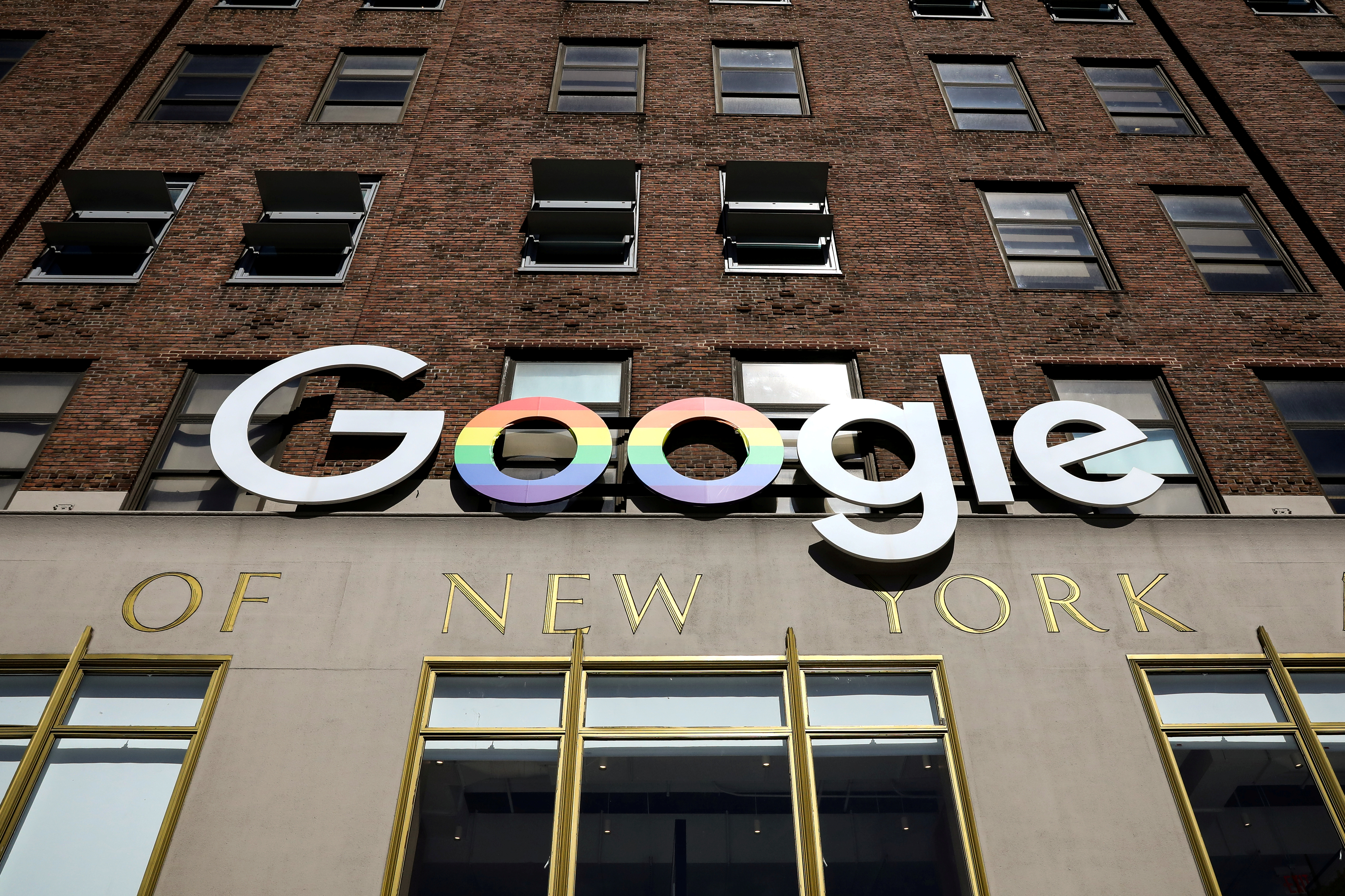 The Google logo is displayed outside the company offices in New York, U.S., June 4, 2019. REUTERS/Brendan McDermid