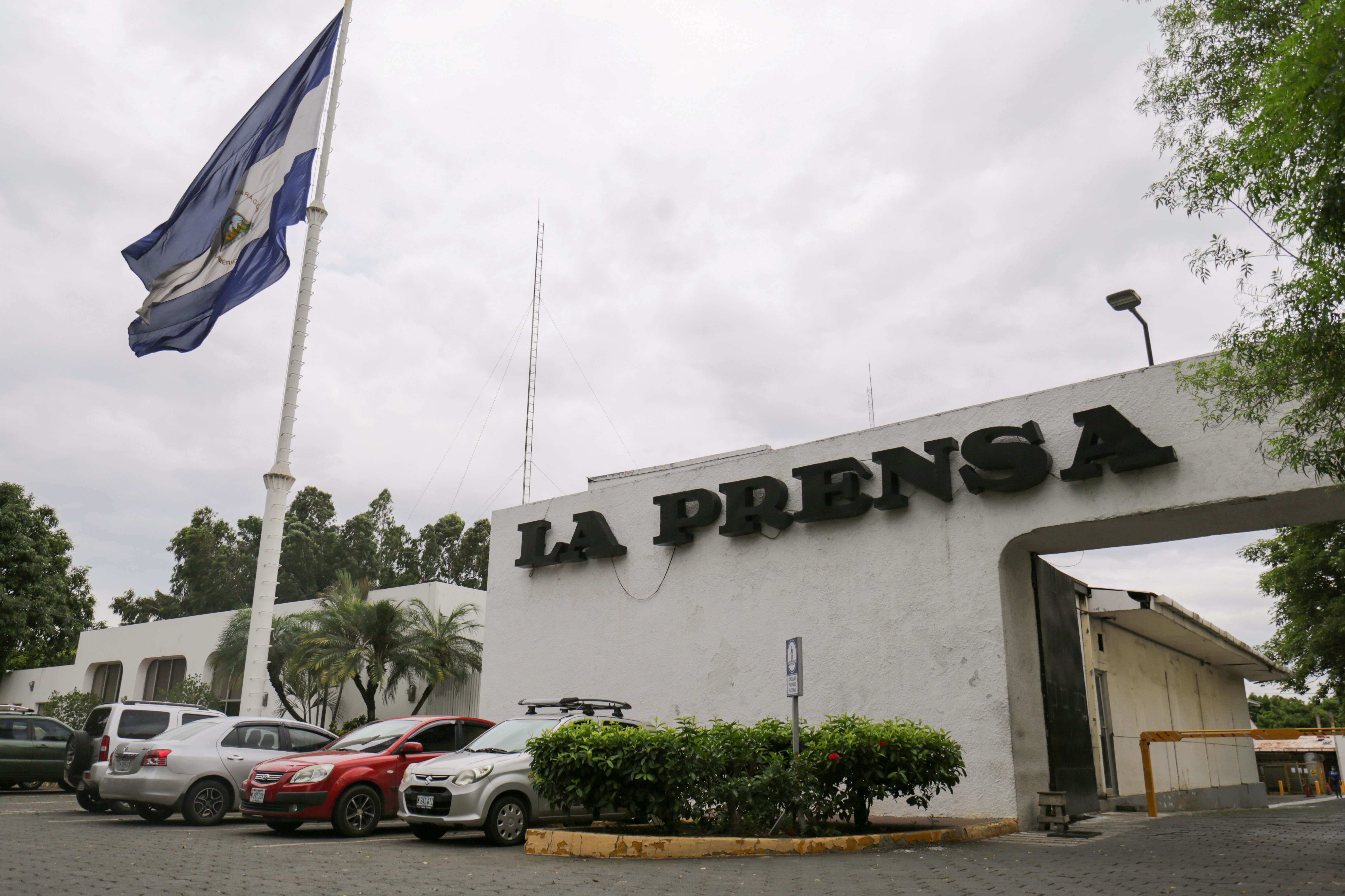 A view shows the facade of La Prensa, Nicaragua's only print newspaper, which will no longer issue a print edition complaining that the administration of President Daniel Ortega was withholding the paper it uses for publishing, in Managua, Nicaragua August 12, 2021. REUTERS/Maynor Valenzuela