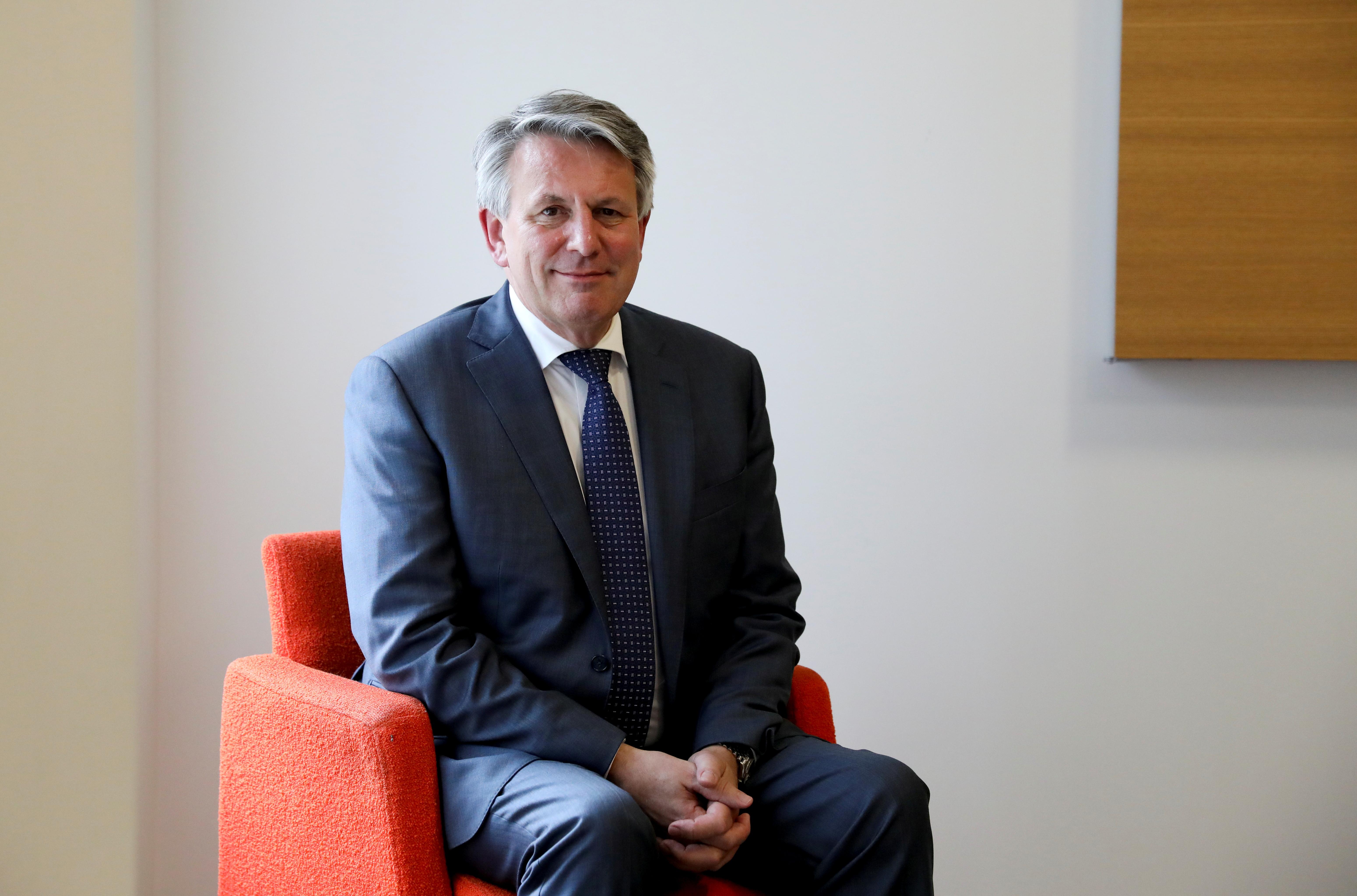 Ben Van Beurden, CEO of Shell, poses for a photograph in London, Britain, October 8, 2019. REUTERS/Marika Kochiashvili/File Photo