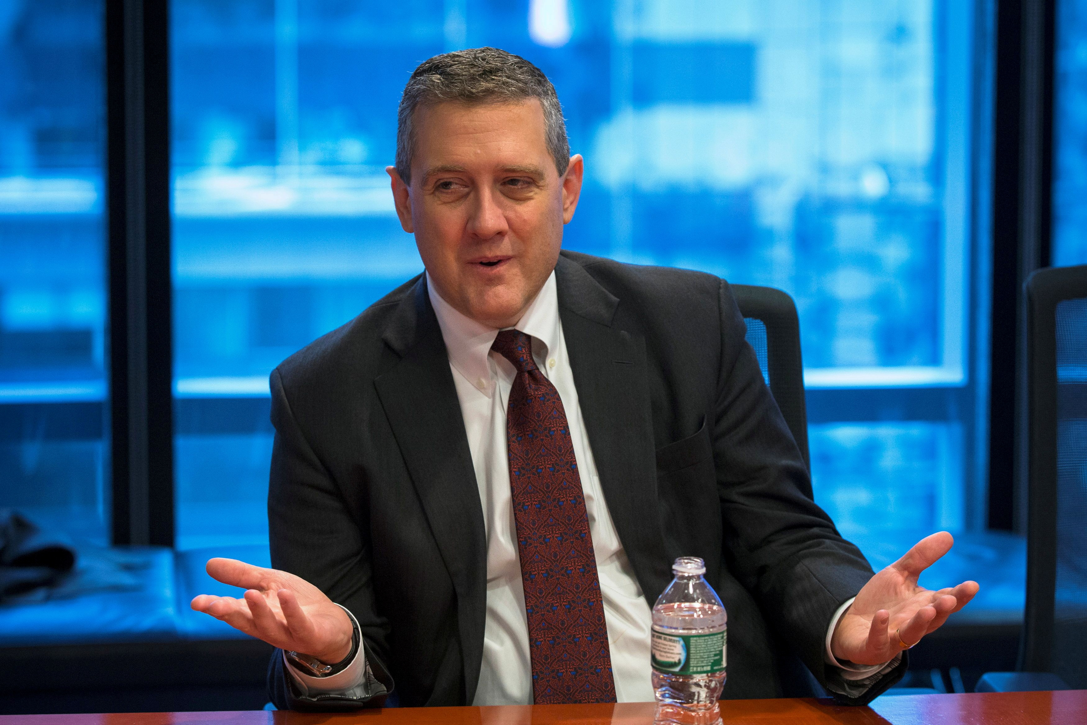 St. Louis Fed President James Bullard speaks about the U.S. economy during an interview in New York February 26, 2015. REUTERS/Lucas Jackson/File Photo