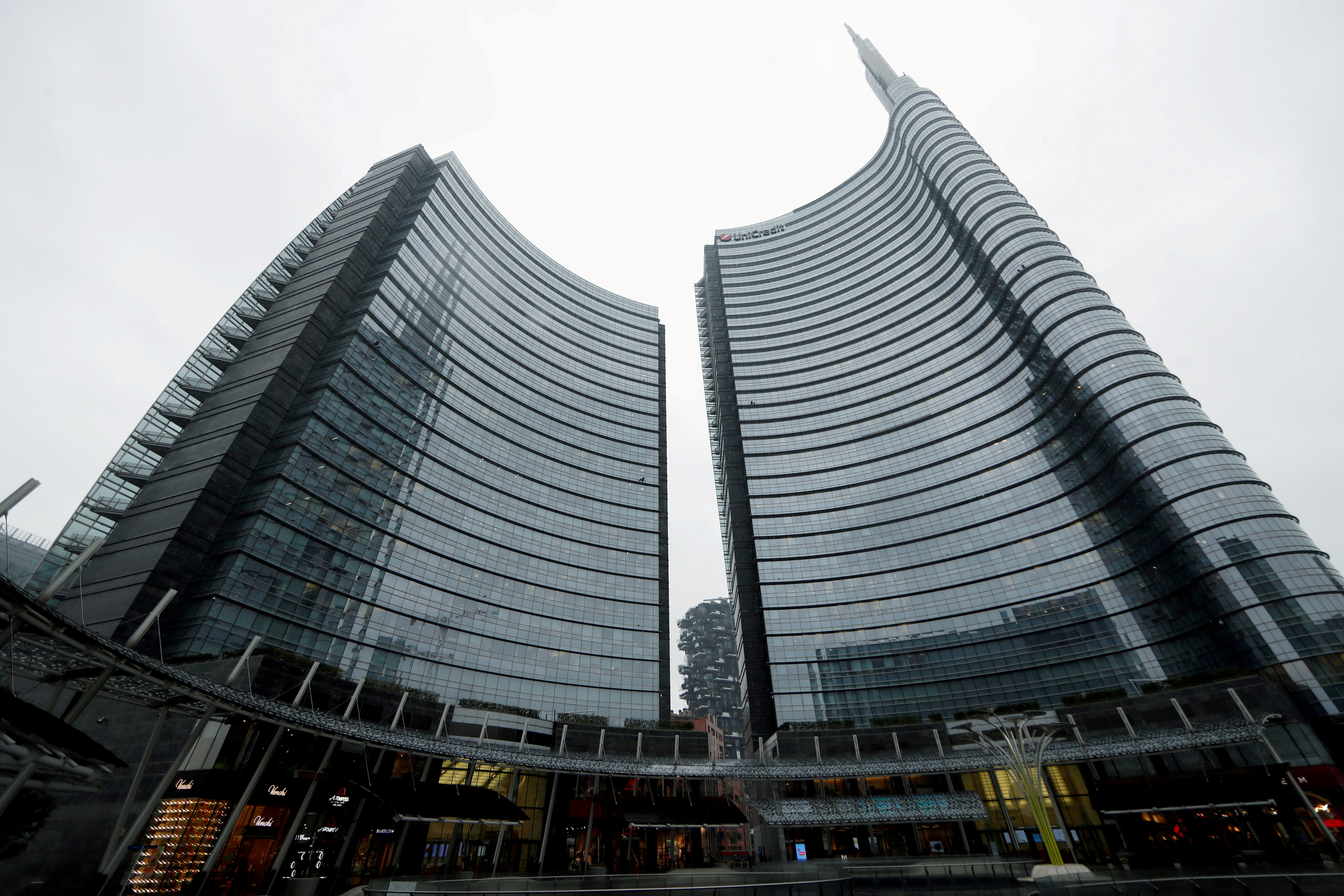 A view of the UniCredit headquarters in Milan, Italy March 2, 2020. REUTERS/Yara Nardi