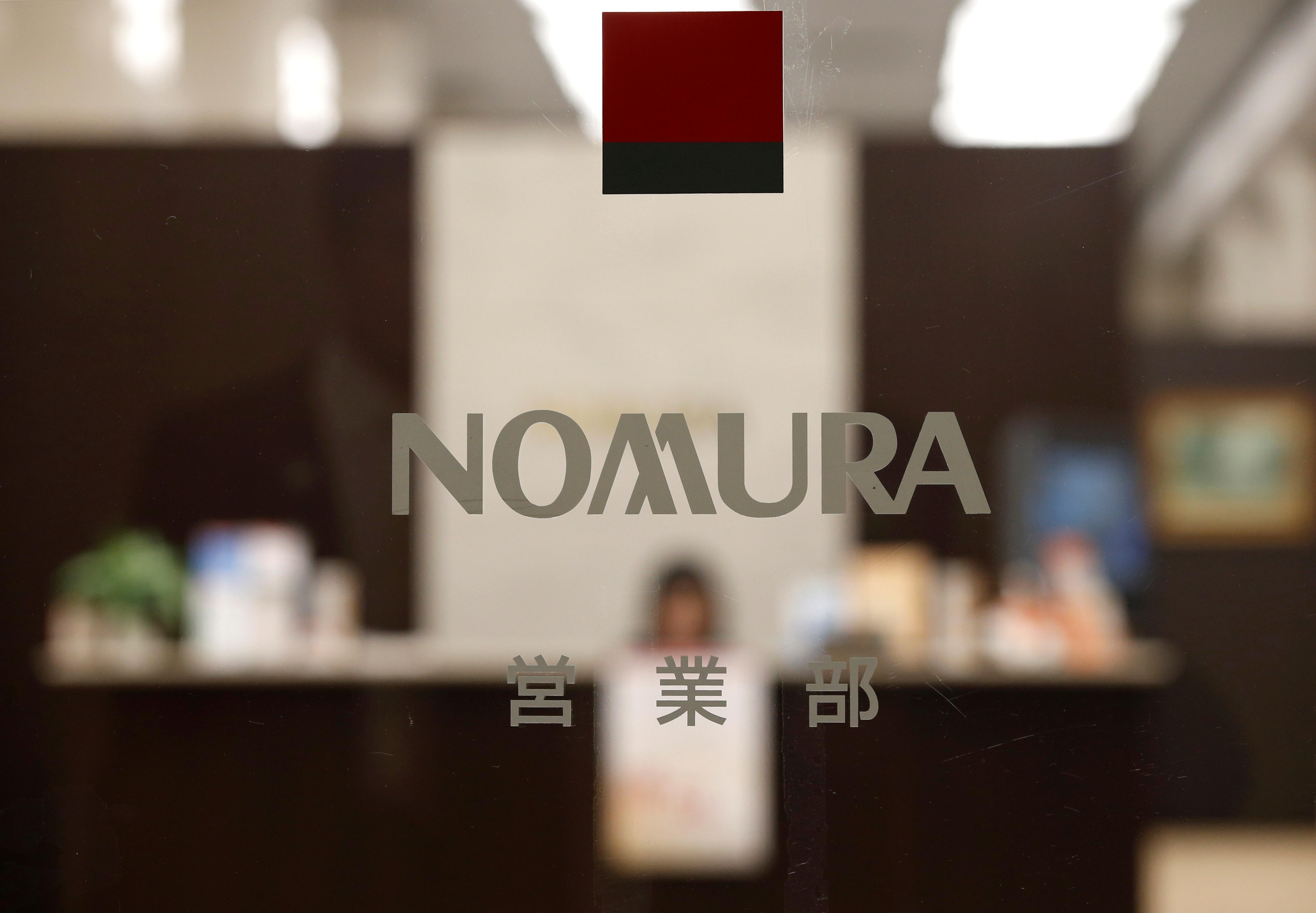 The logo of Nomura Securities is seen at the company's Head Office in Tokyo, Japan, November 28, 2016.    REUTERS/Toru Hanai