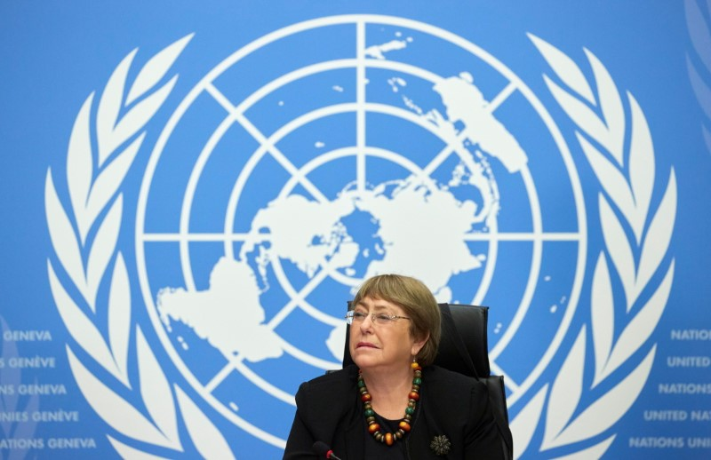 U.N. High Commissioner for Human Rights Michelle Bachelet attends a news conference at the European headquarters of the United Nations in Geneva, Switzerland, December 9, 2020. REUTERS/Denis Balibouse