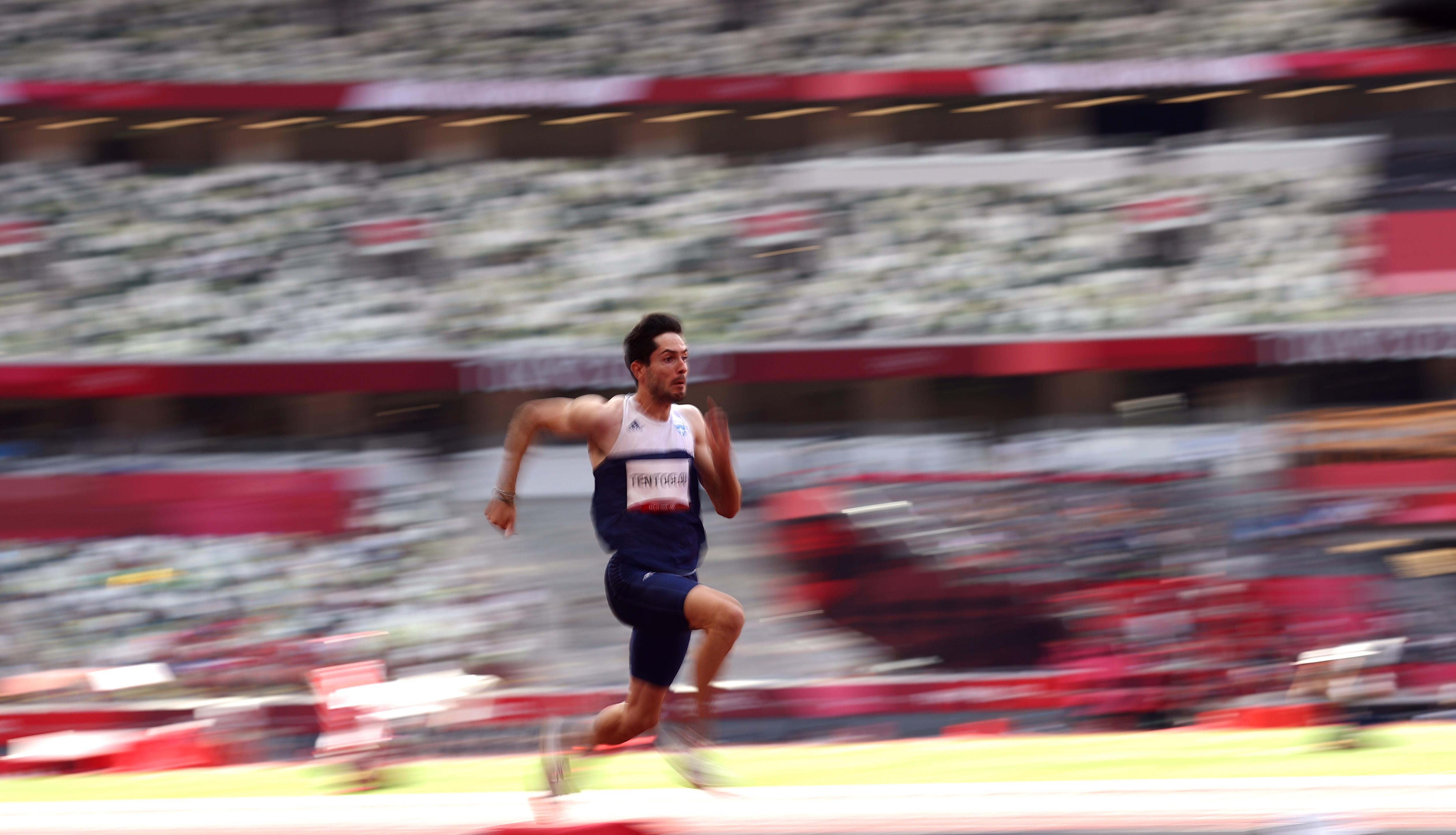 Tokyo 2020 Olympics - Athletics - Men's Long Jump - Final - Olympic Stadium, Tokyo, Japan - August 2, 2021. Miltiadis Tentoglou of Greece in action. REUTERS/Andrew Boyers