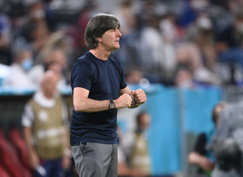 Soccer Football - Euro 2020 - Group F - France v Germany - Football Arena Munich, Munich, Germany - June 15, 2021 Germany coach Joachim Loew Pool via REUTERS/Matthias Hangst