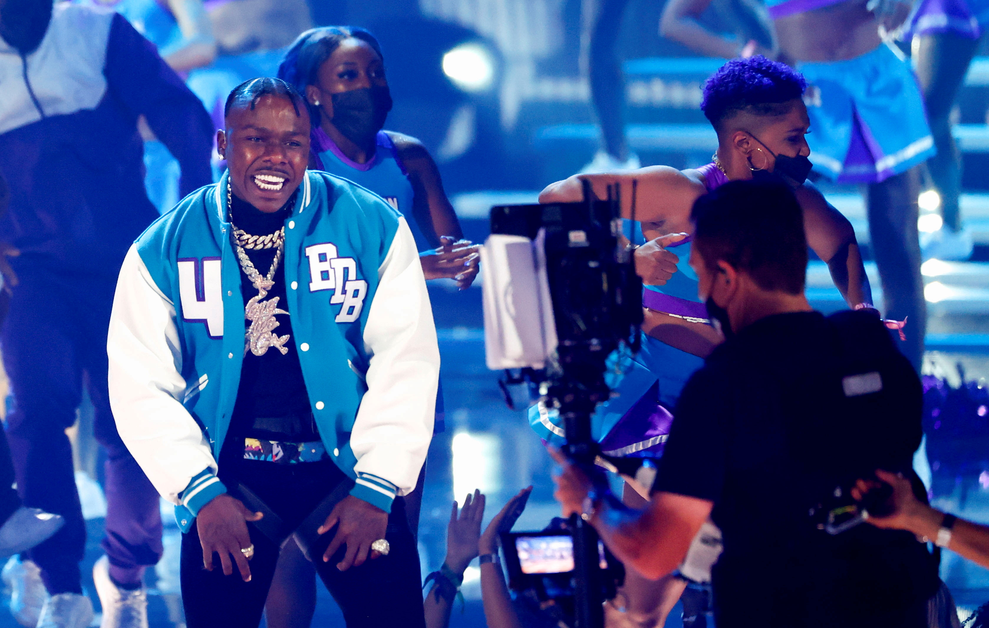 DaBaby performs during the BET Awards at Microsoft theatre in Los Angeles, California, U.S., June 27, 2021. REUTERS/Mario Anzuoni