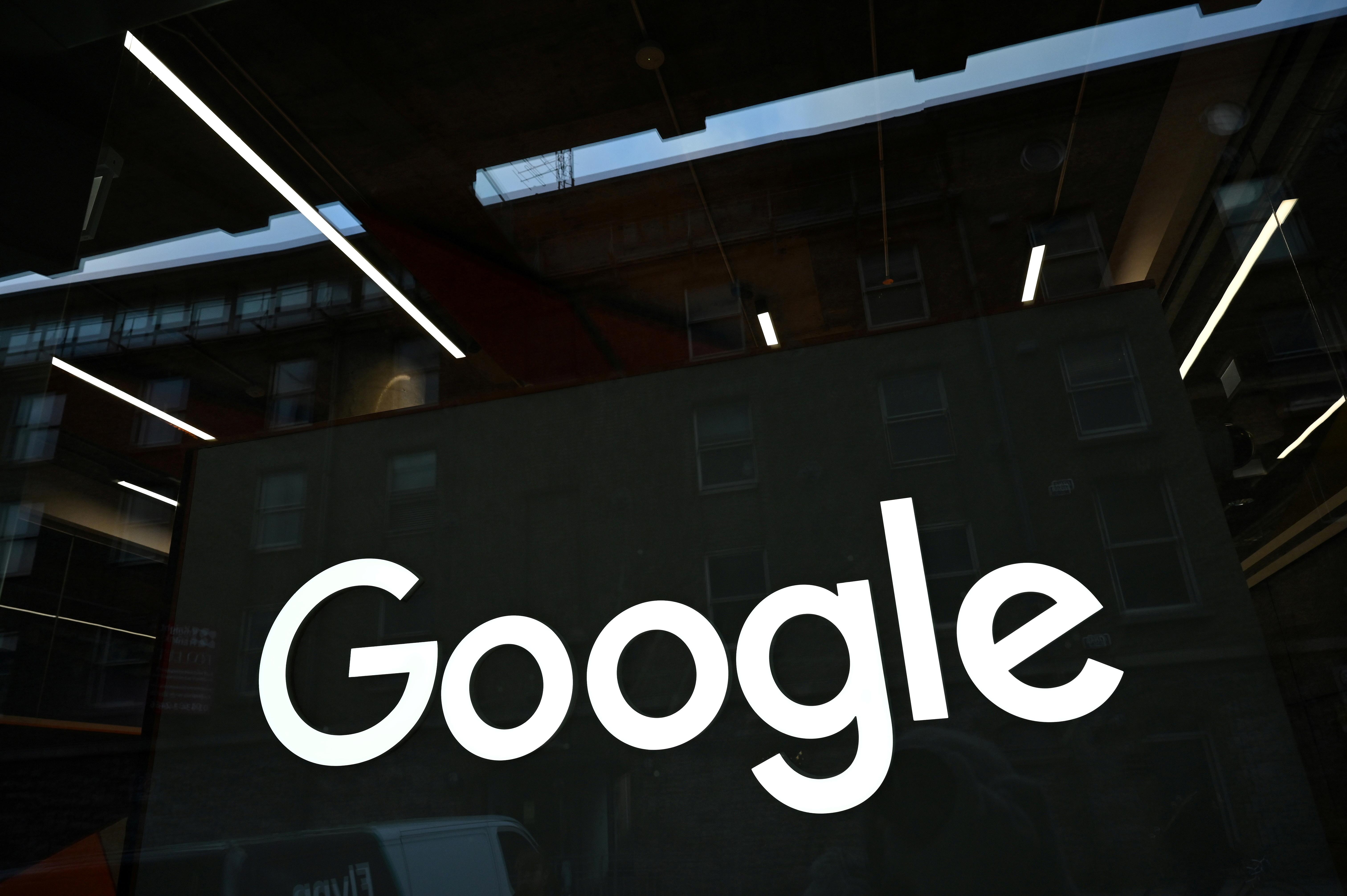The Google logo is seen on on the company's European headquarters in Dublin, Ireland, February 27, 2021. REUTERS/Clodagh Kilcoyne